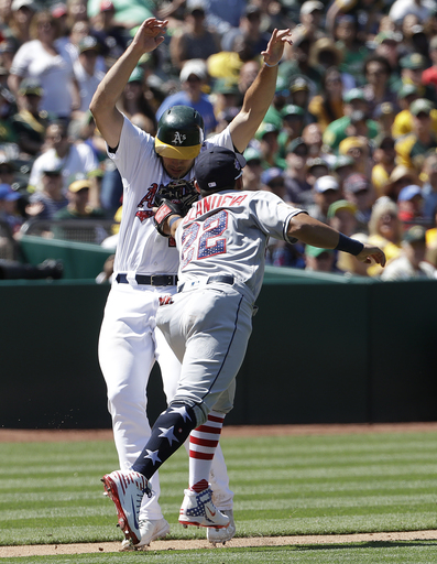Piscotty's 3 doubles lead A's past Padres 4-2