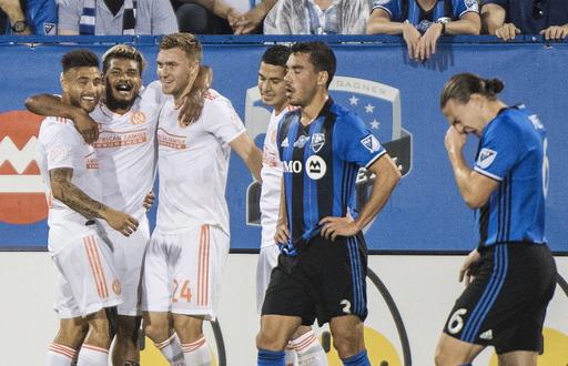 Martinez scores 24th, 25th goals, Atlanta tops Impact 2-1