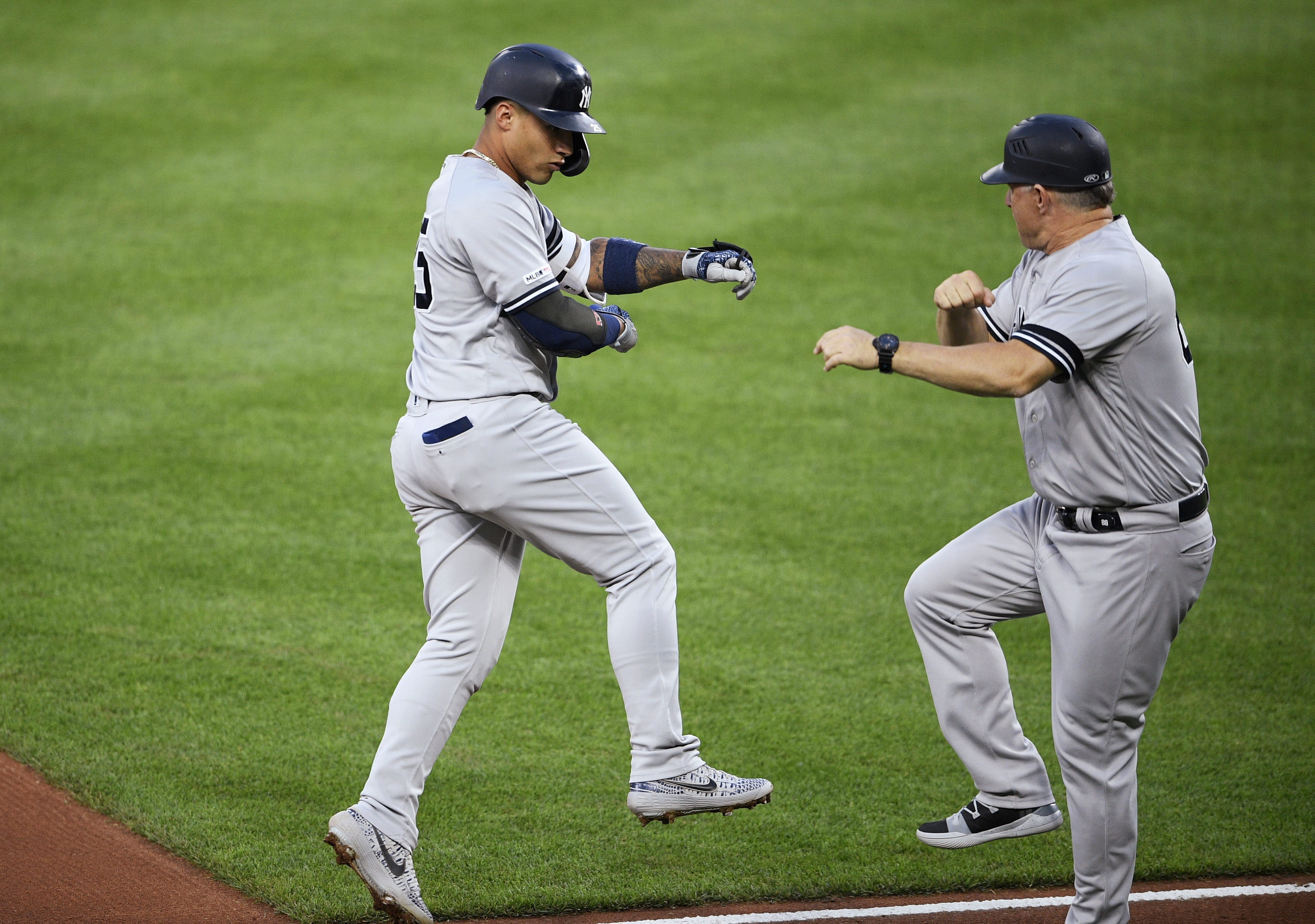 Torres hits 2 of Yankees' 5 HRs in 7-5 win over Orioles