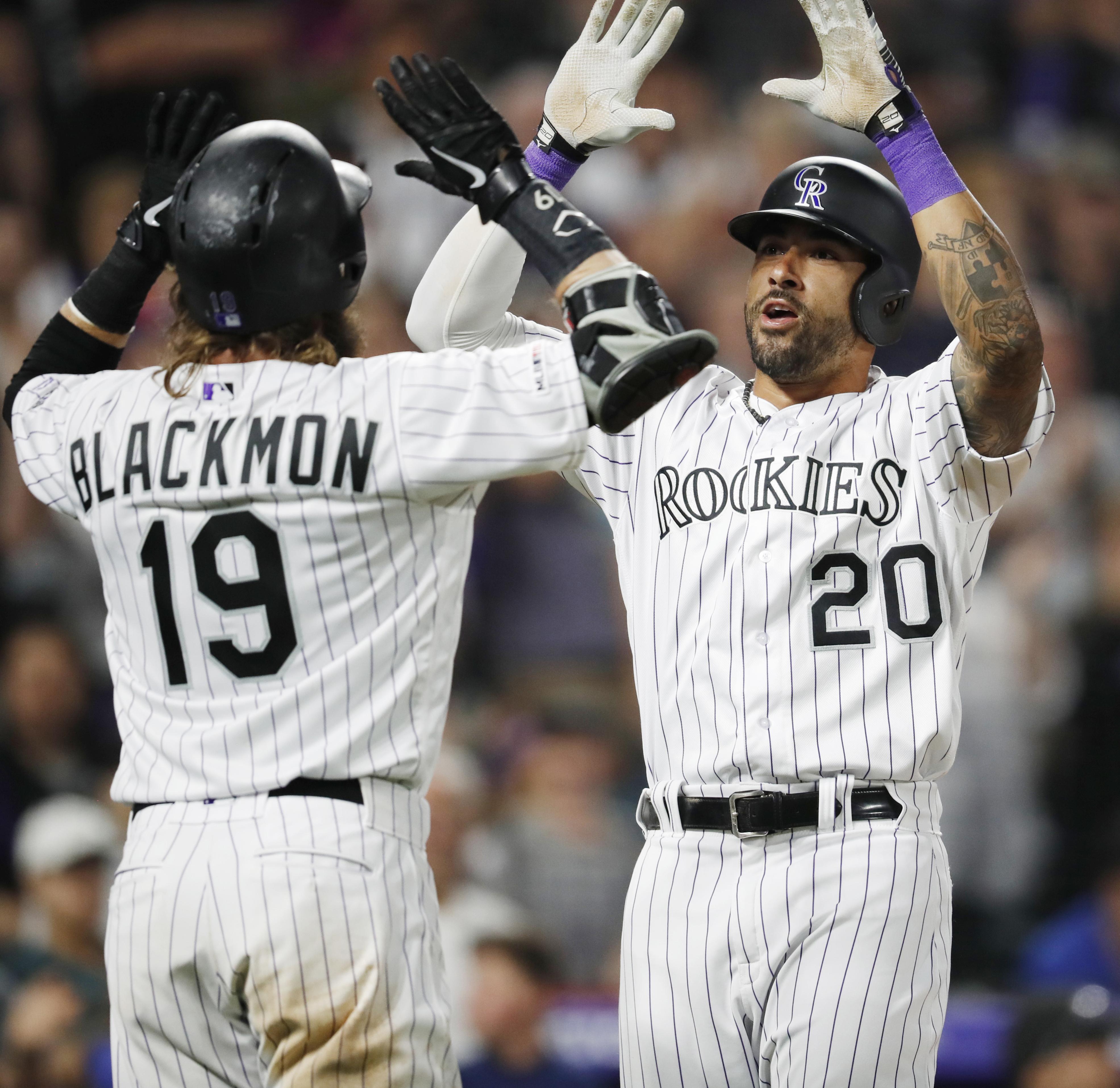 Blackmon has 4 hits, Desmond hits slam as Rockies top Padres