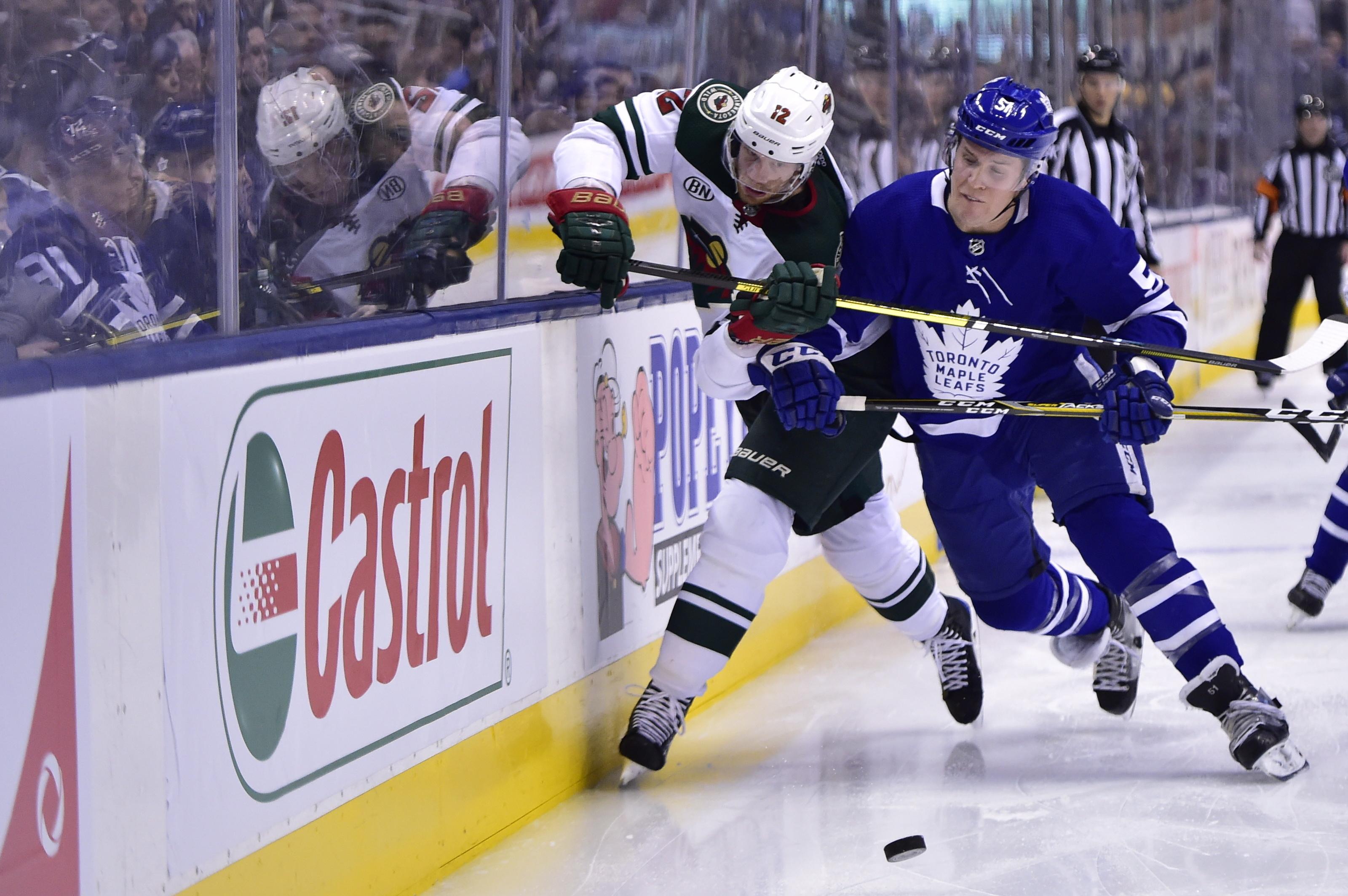 Zach Parise breaks tie, Wild edge Maple Leafs 4-3