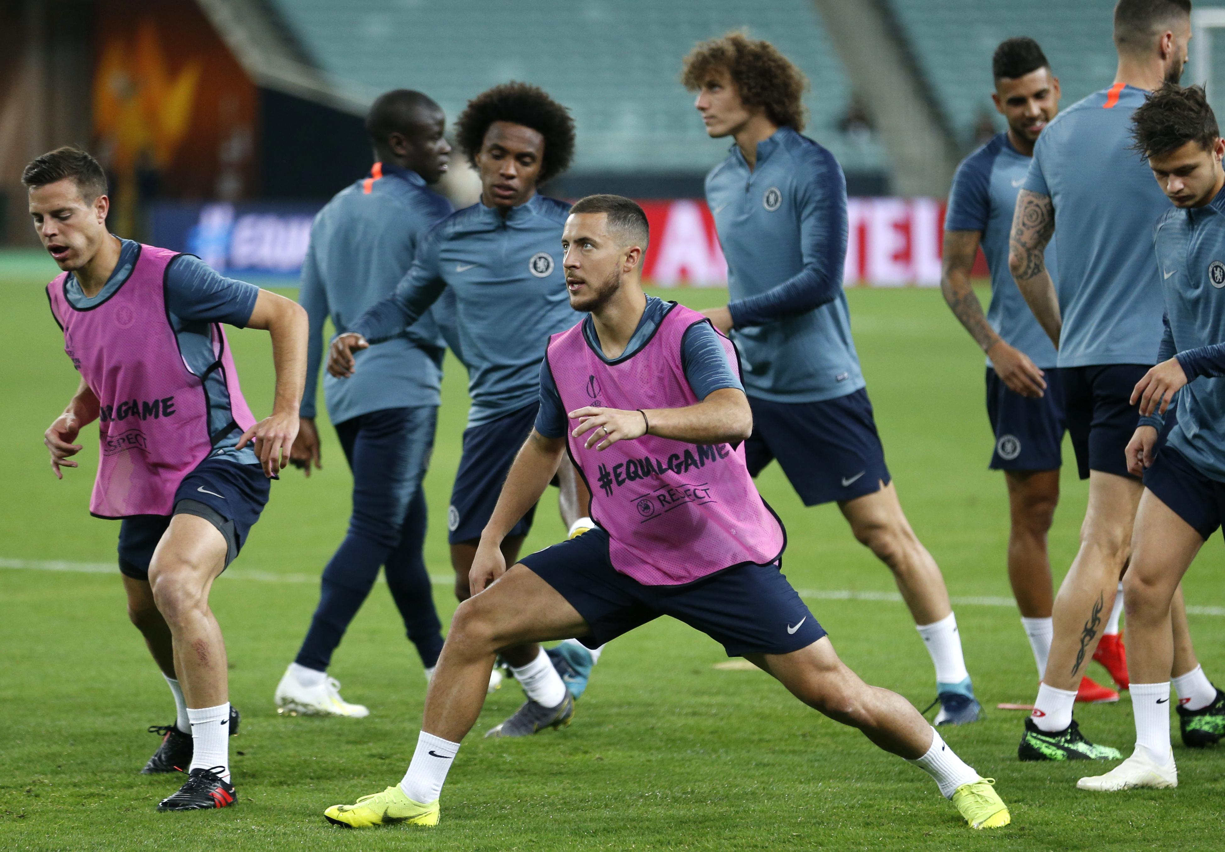 Sarri says Kante 50-50 for Europa League final