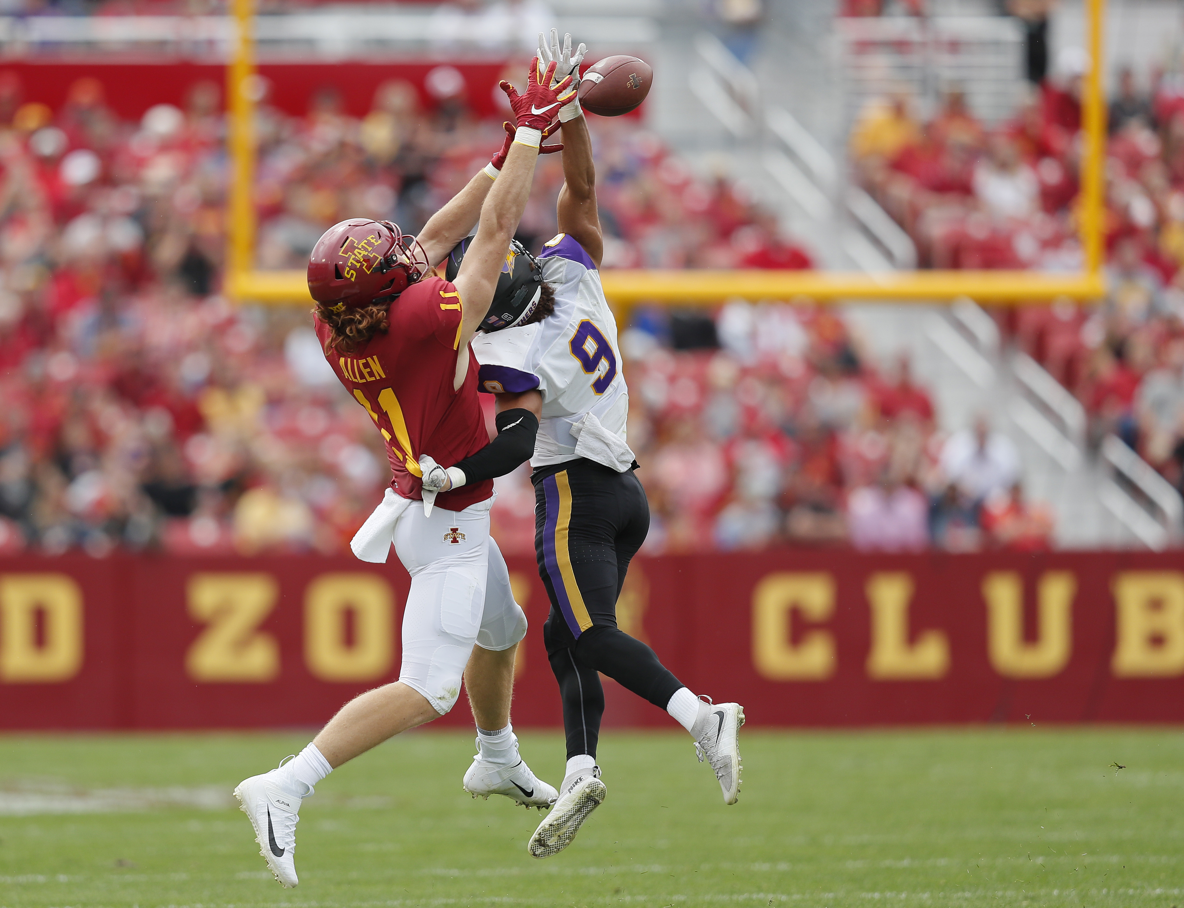 No. 21 Iowa State survives Northern Iowa in 3 OT, 29-26