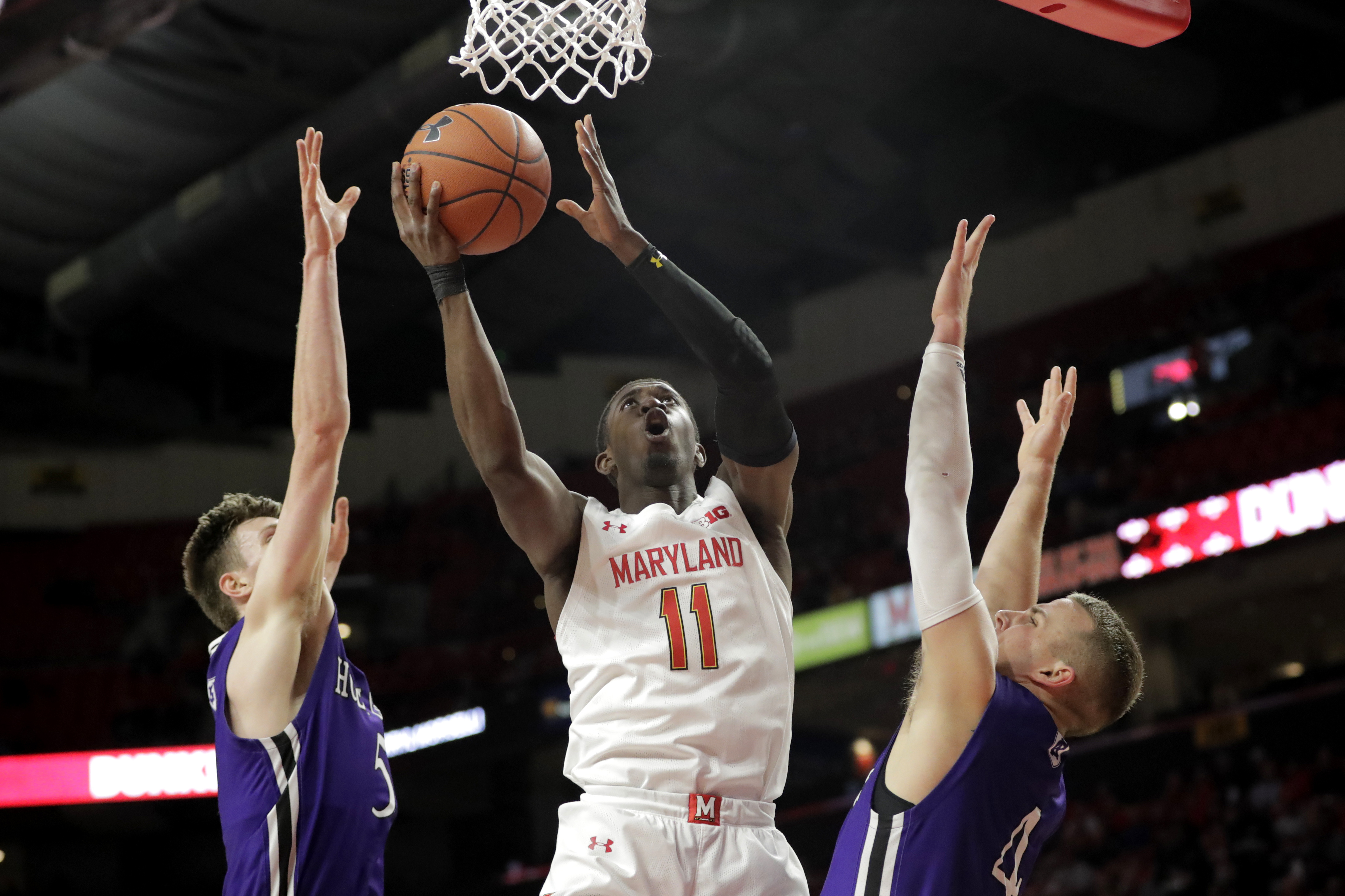 Smith, Morsell carry No. 7 Maryland past Holy Cross 95-71