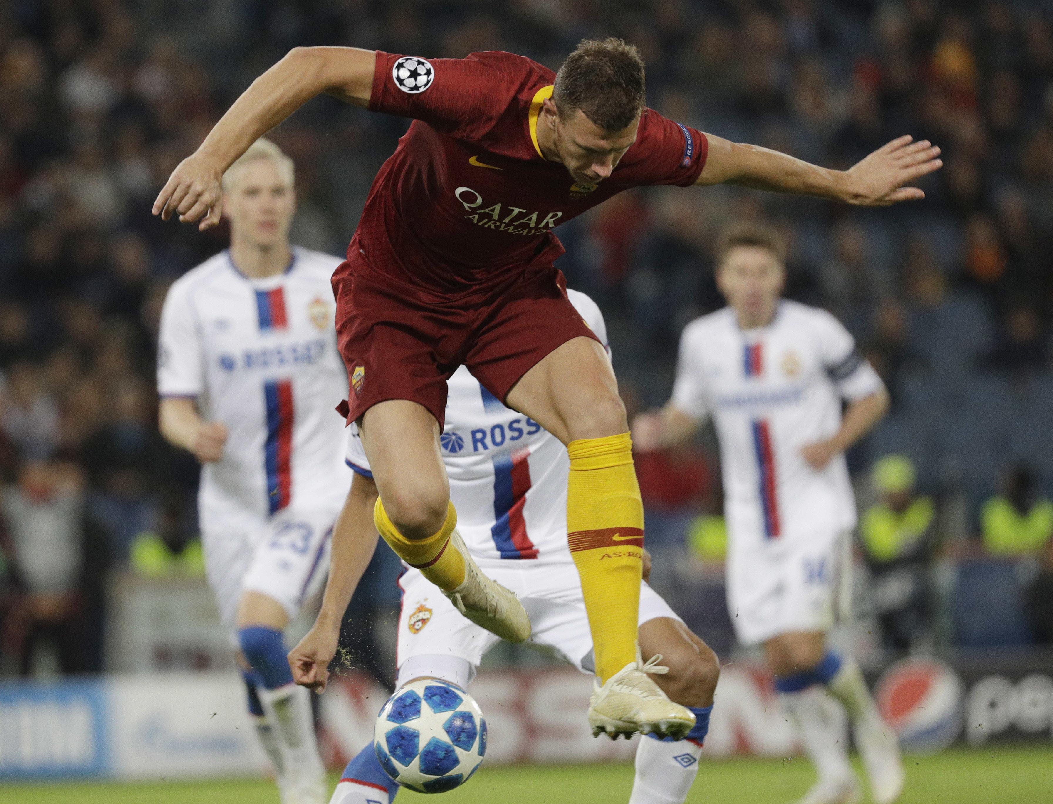 Dzeko matches Messi with 5th Champions League goal of season