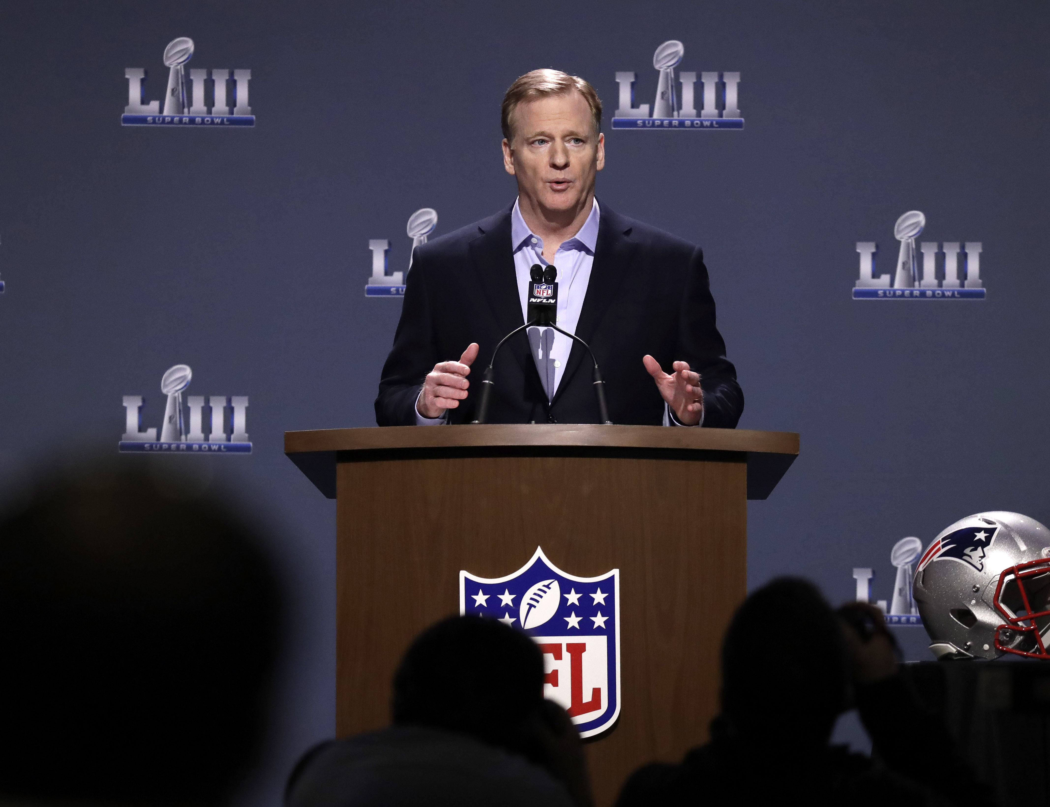 The Latest: Goodell says rules changes may be considered