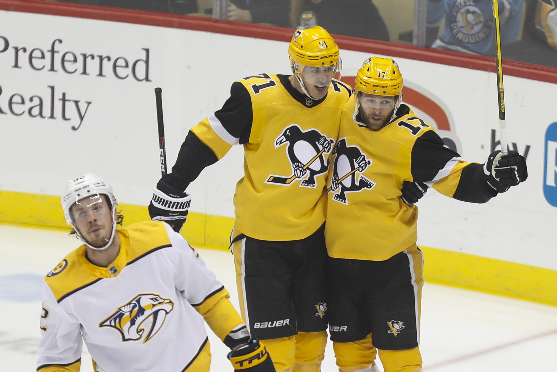 Guentzel's power-play goal lifts Penguins past Predators 6-4