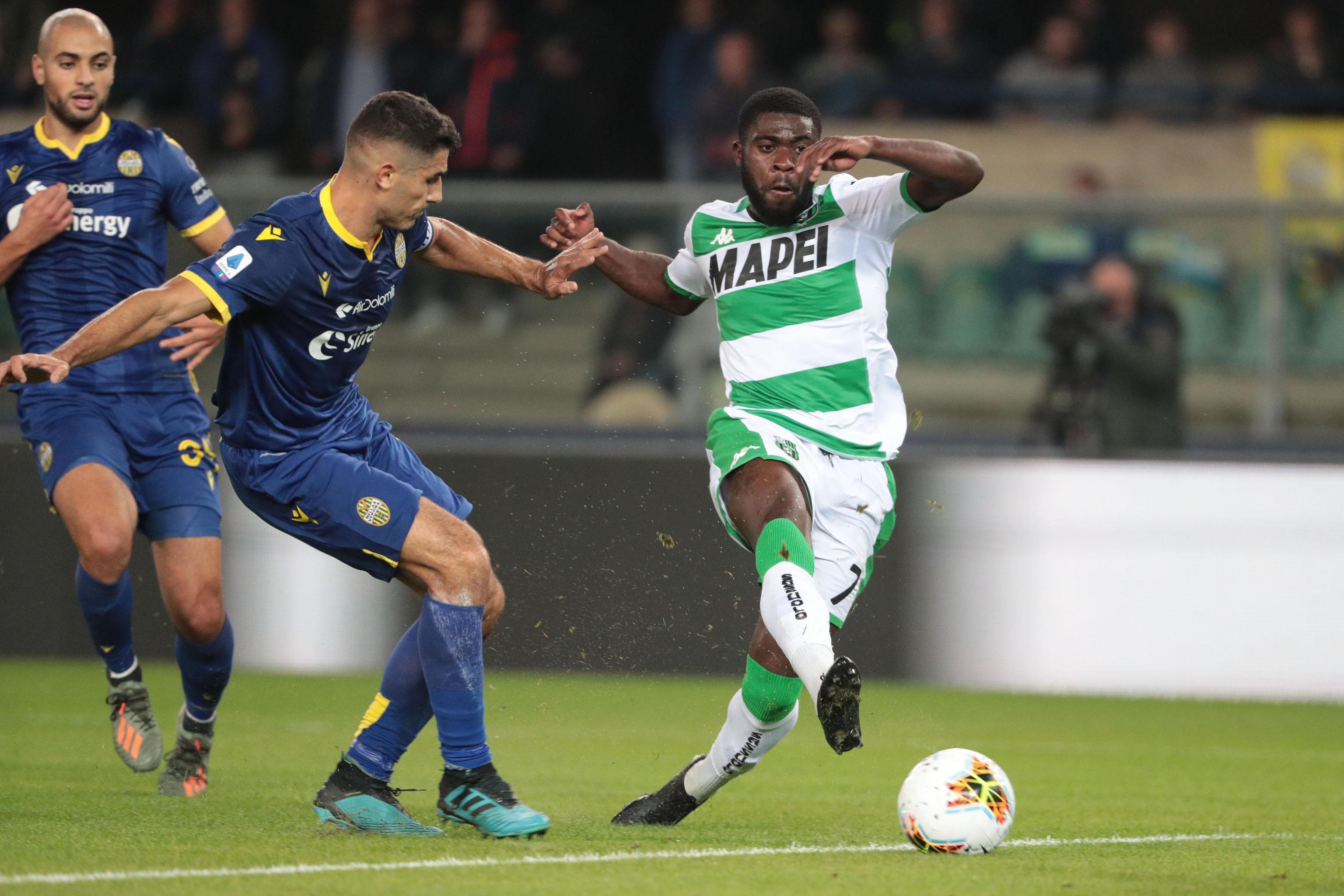 Sassuolo beats Hellas Verona 1-0 in Serie A