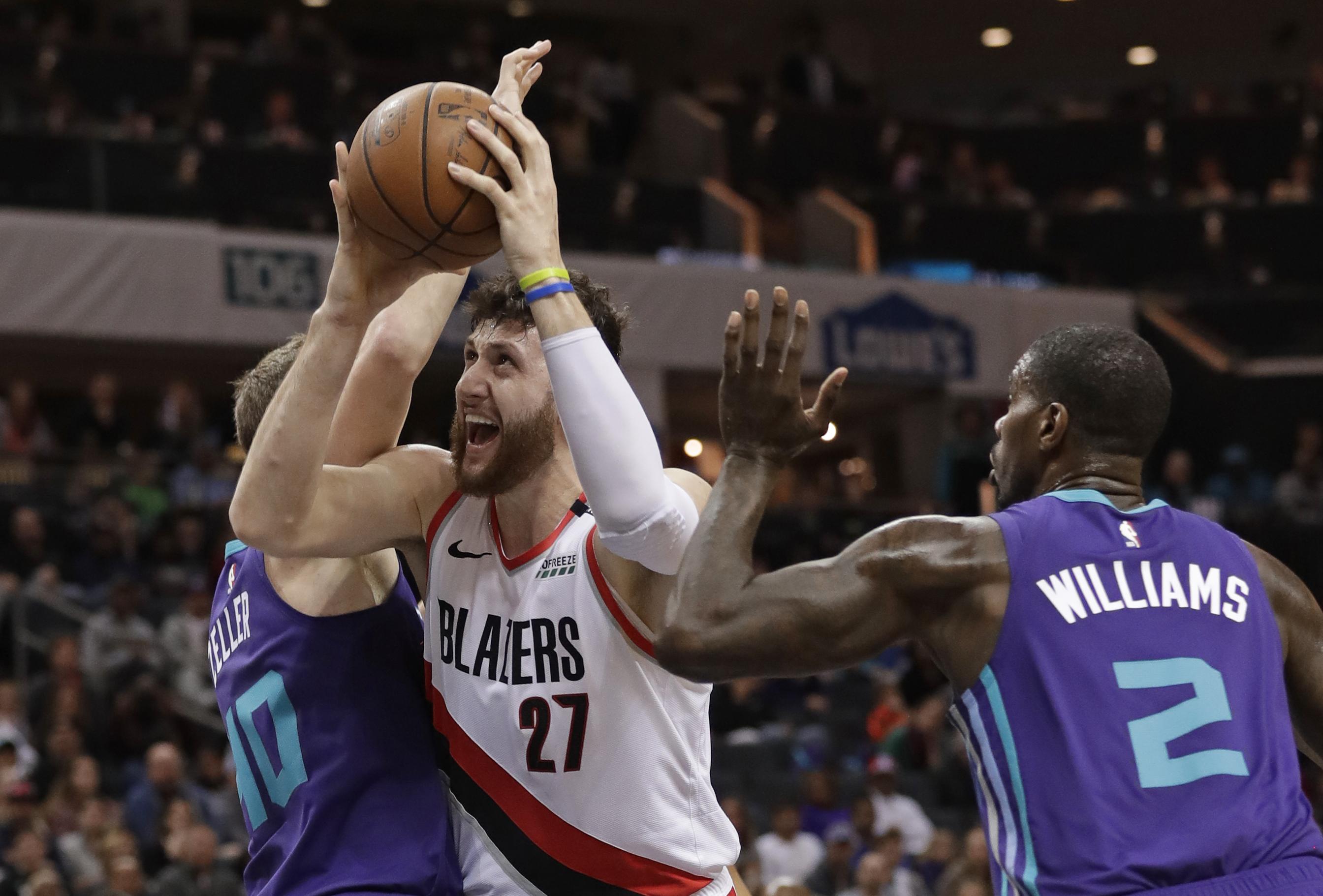 Hood, Nurkic lead Blazers past Hornets 118-108