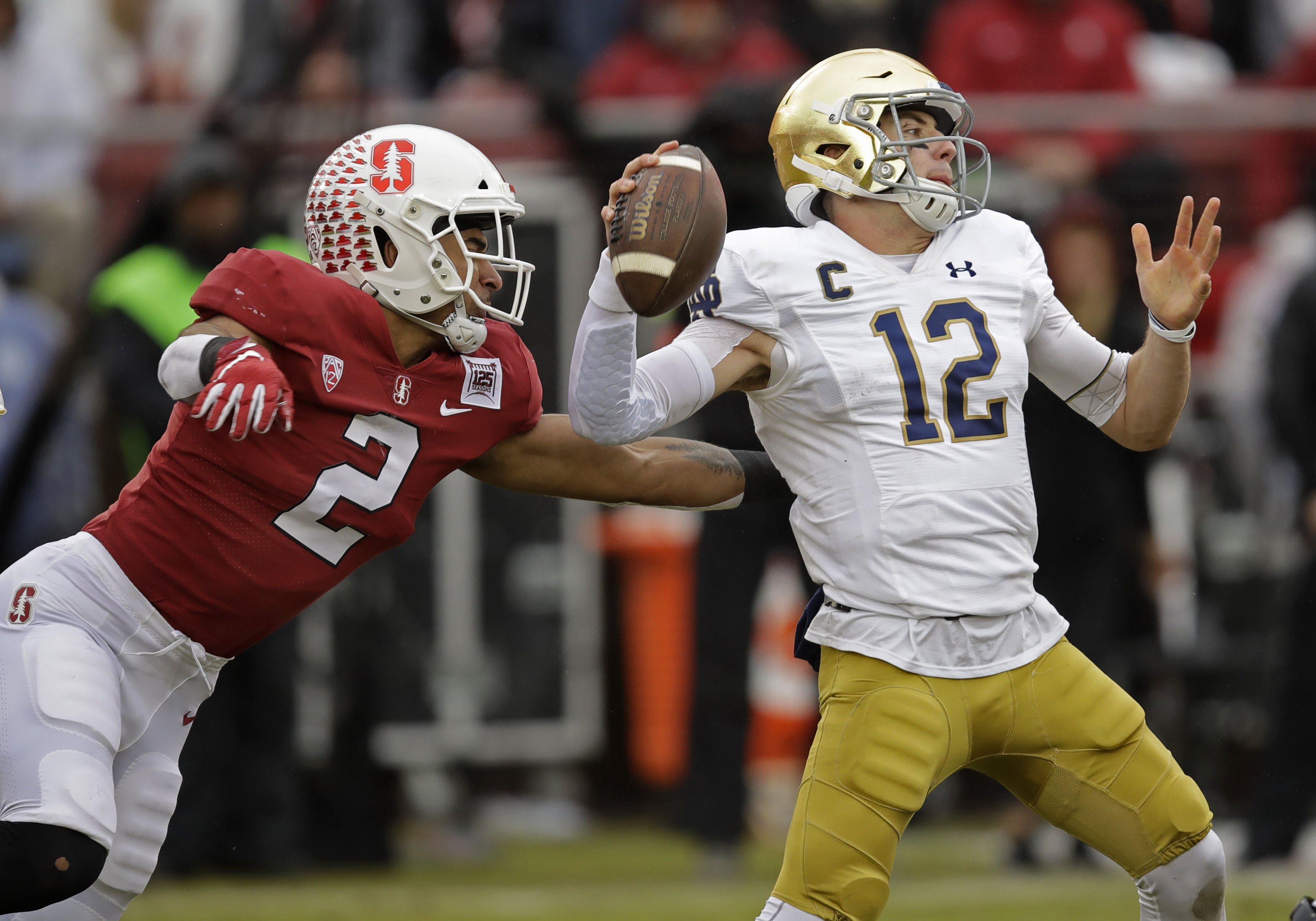Ian Book throws 4 TD passes, No. 15 Notre Dame tops Stanford