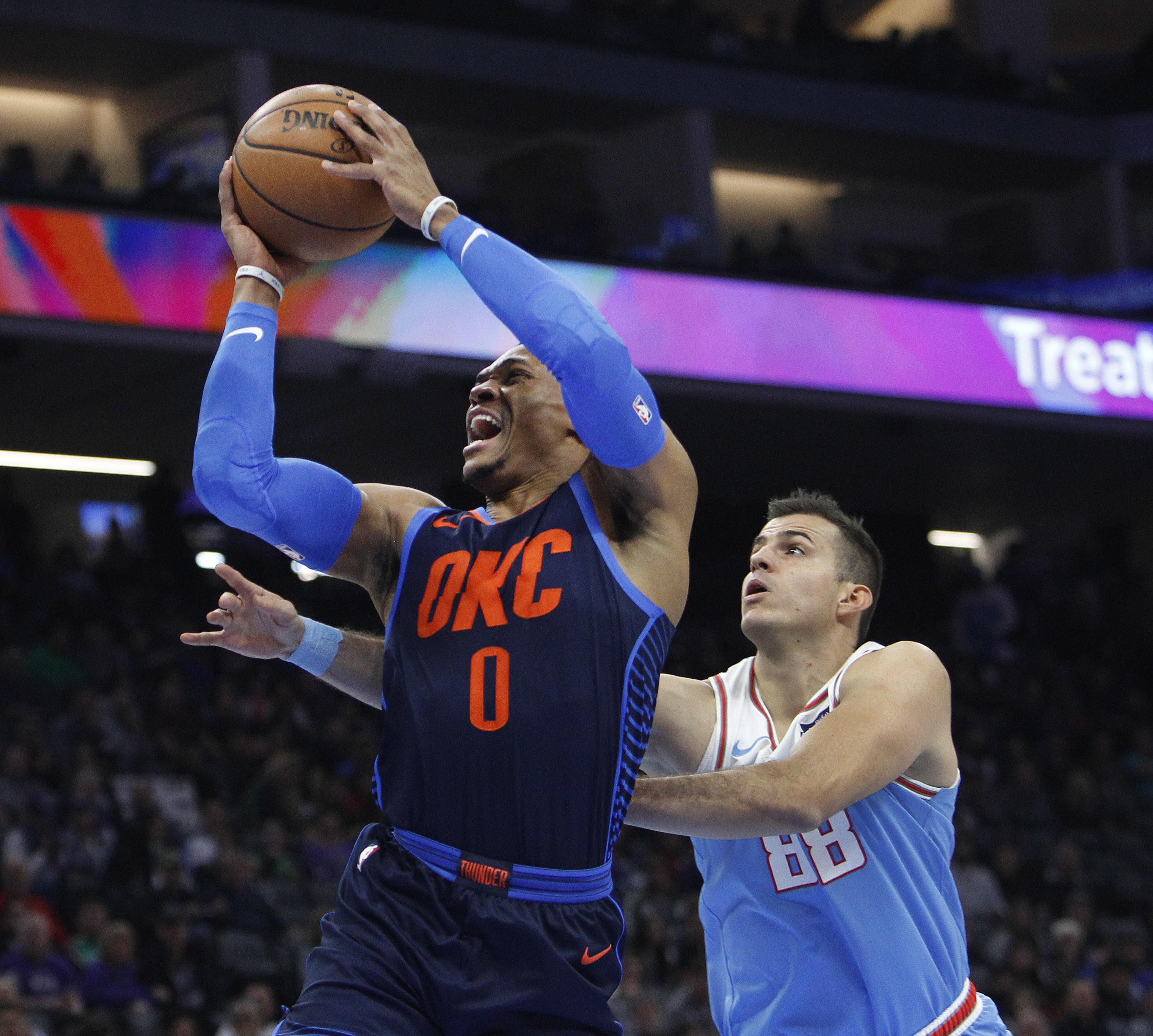 Hield helps Kings hold off Westbrook, Thunder 117-113
