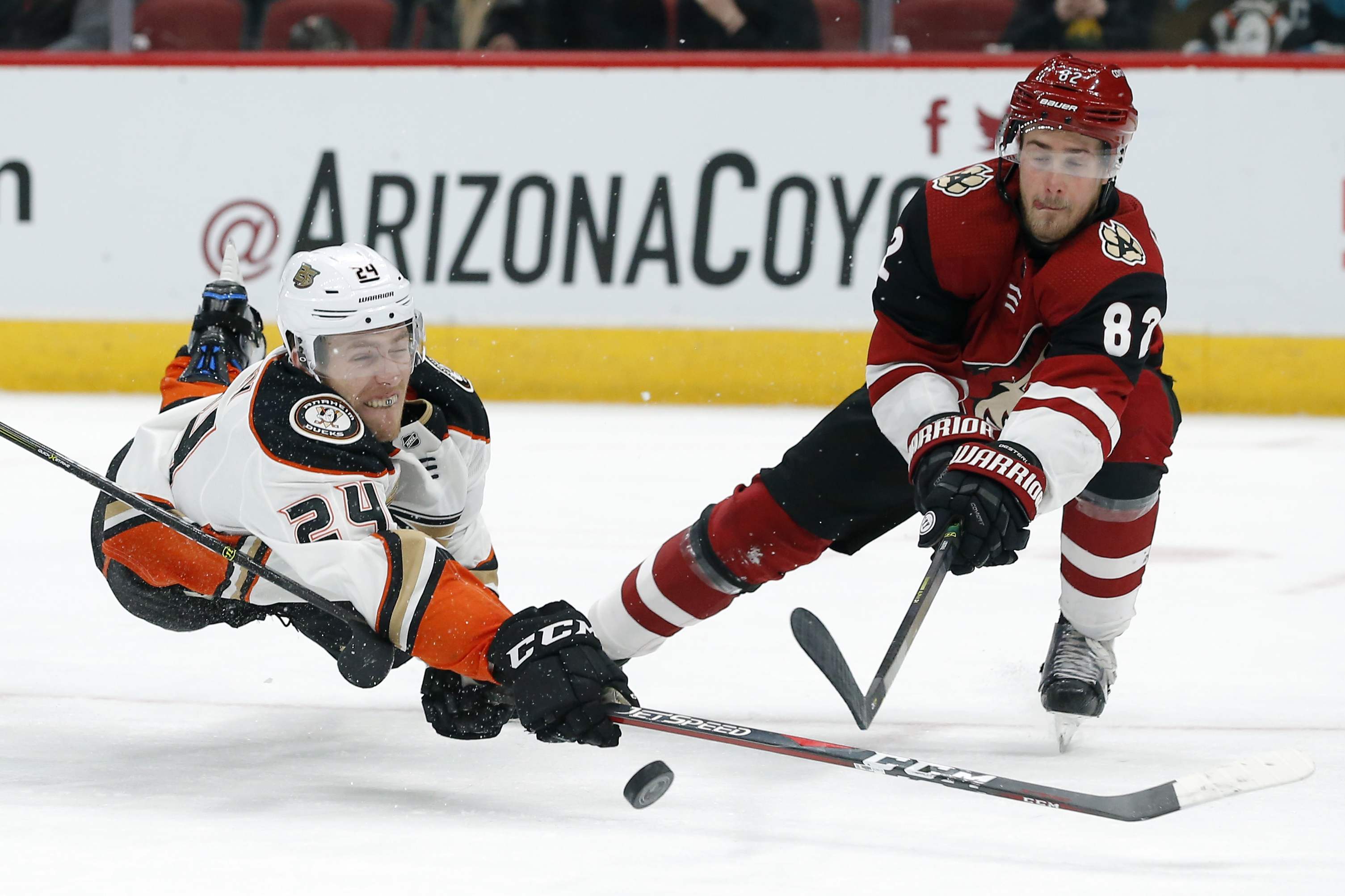 Hinostroza's hat trick leads Coyotes to 6-1 win over Ducks
