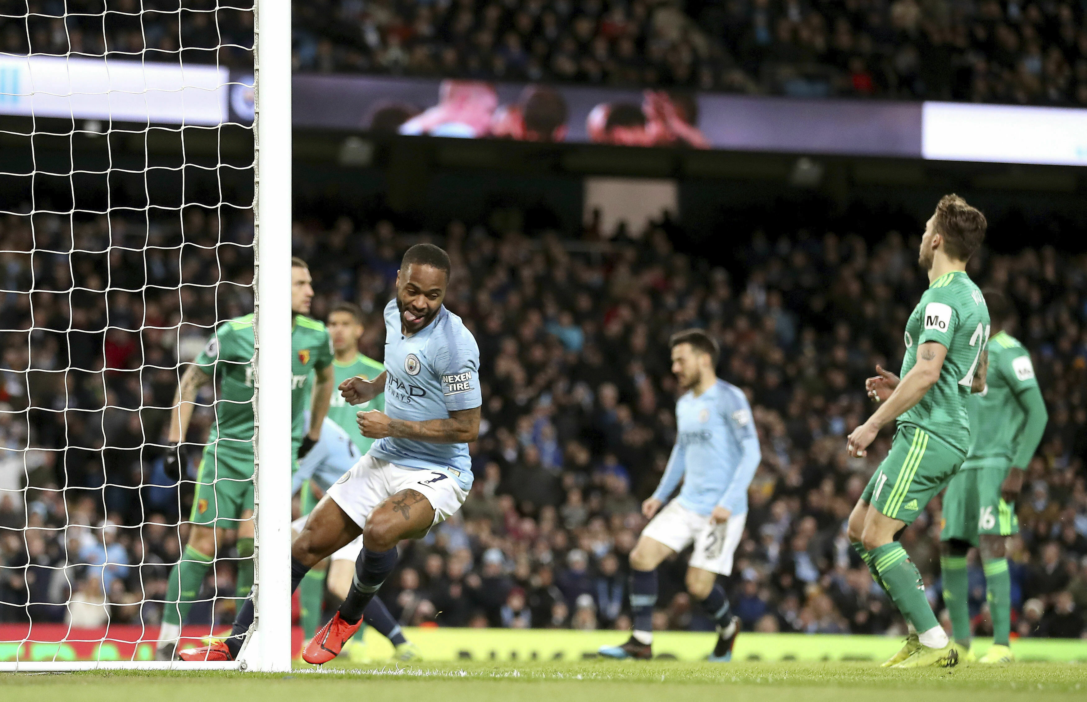 Sterling's hat trick gives Man City 3-1 win over Watford
