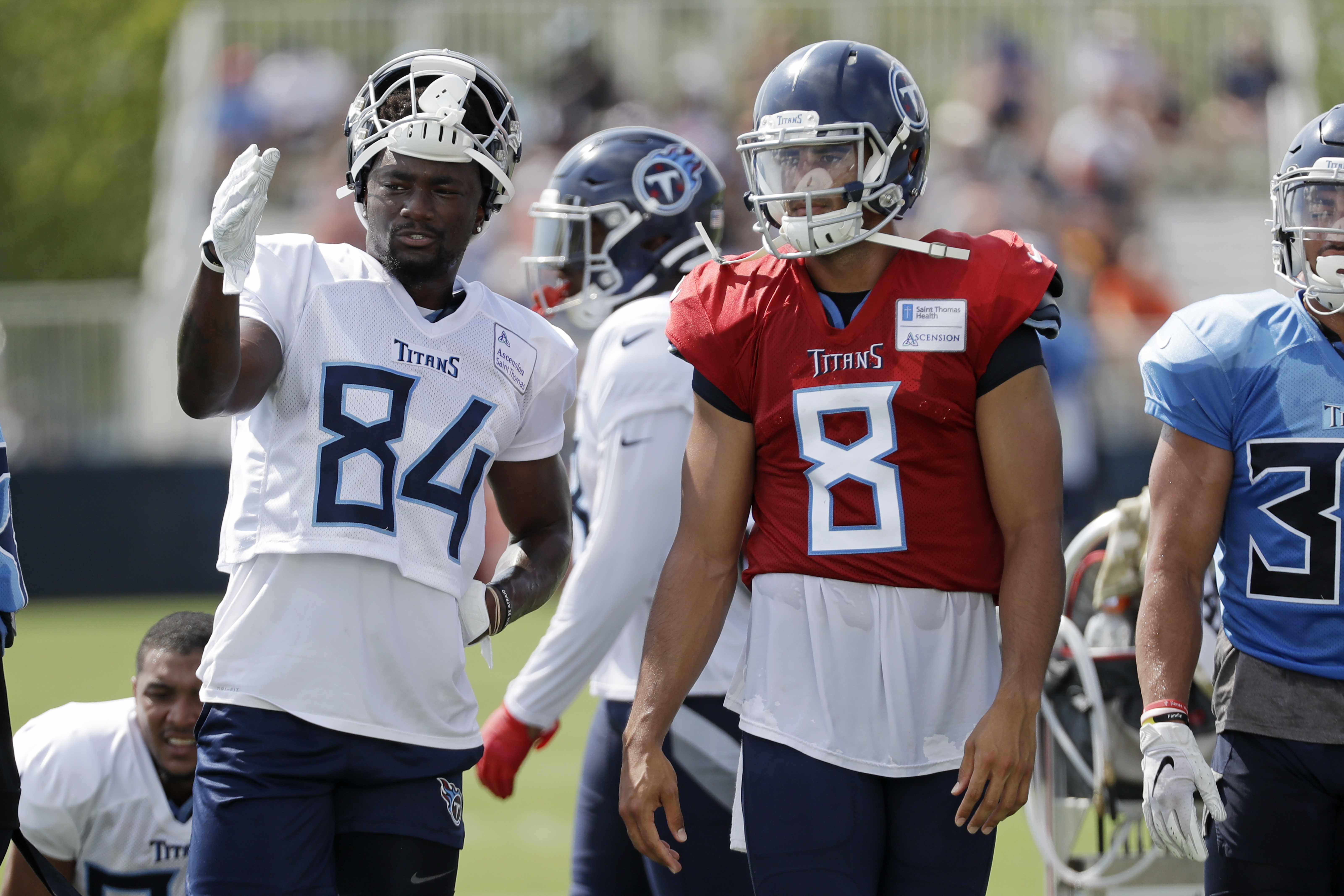 Titans receiver Corey Davis putting on show in training camp