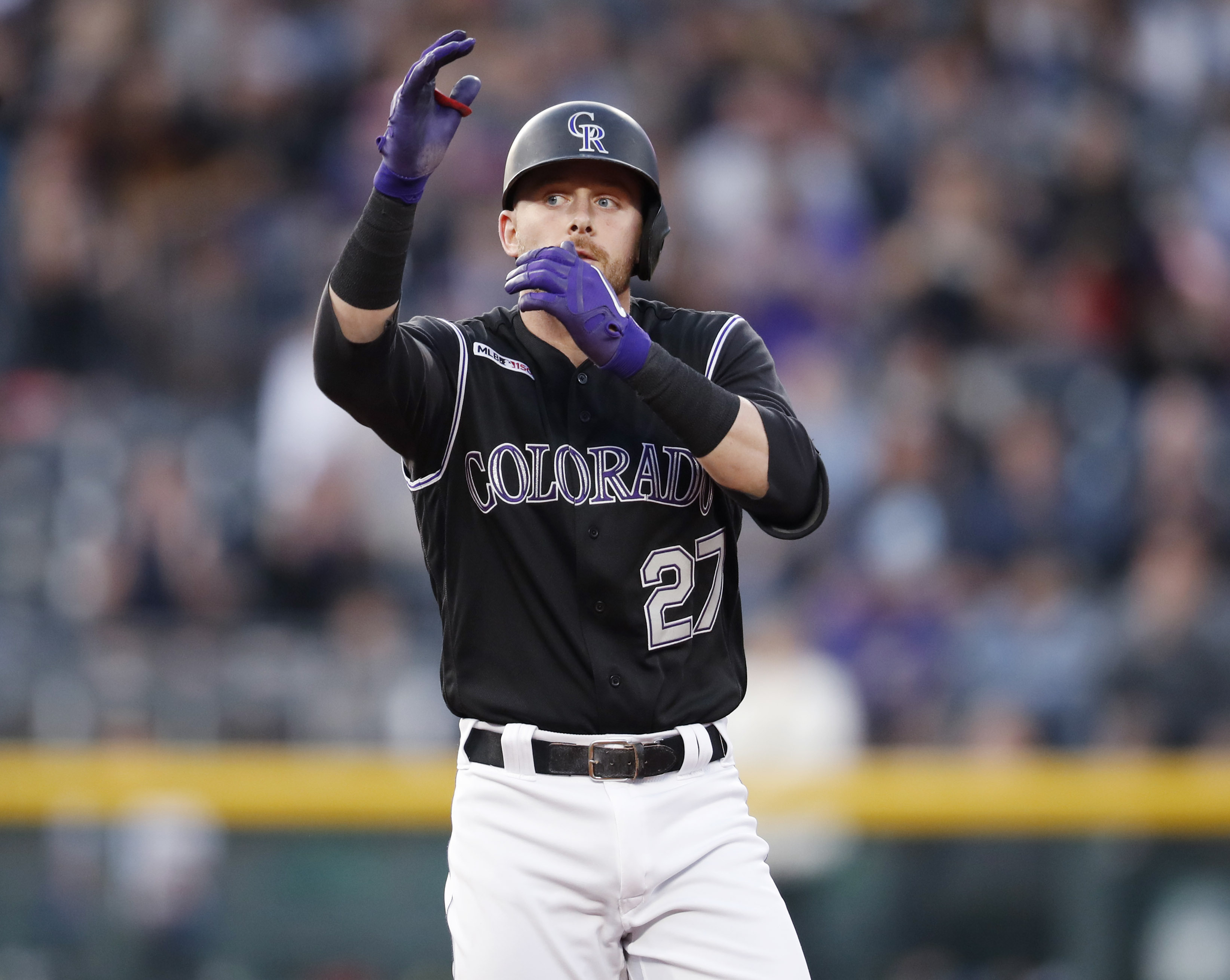 Trevor Story homers twice, Rockies rout Blue Jays 13-6