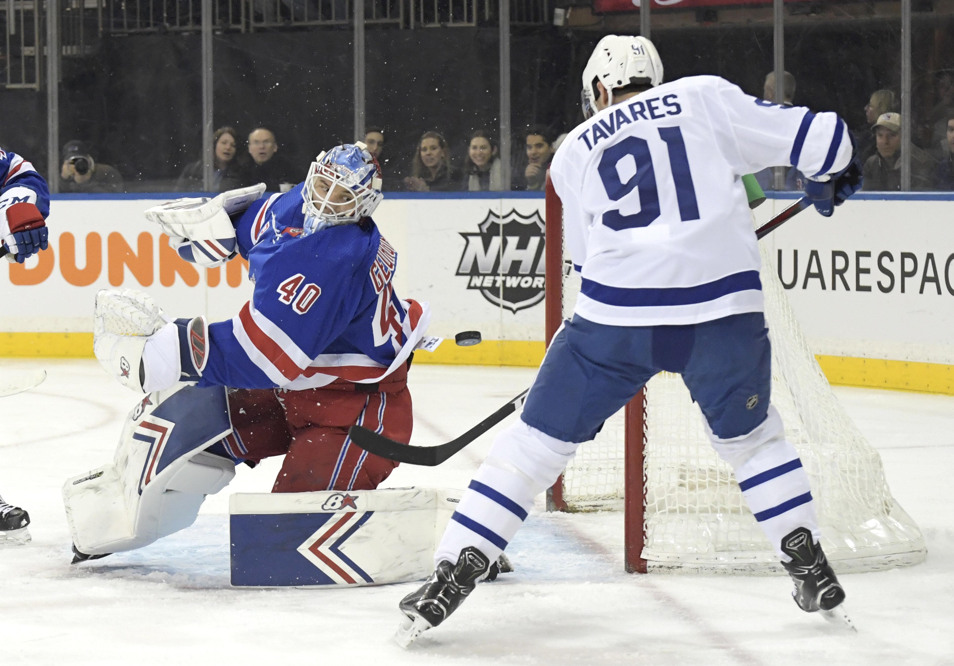 Georgiev's 55 saves help Rangers cool off Leafs 4-1