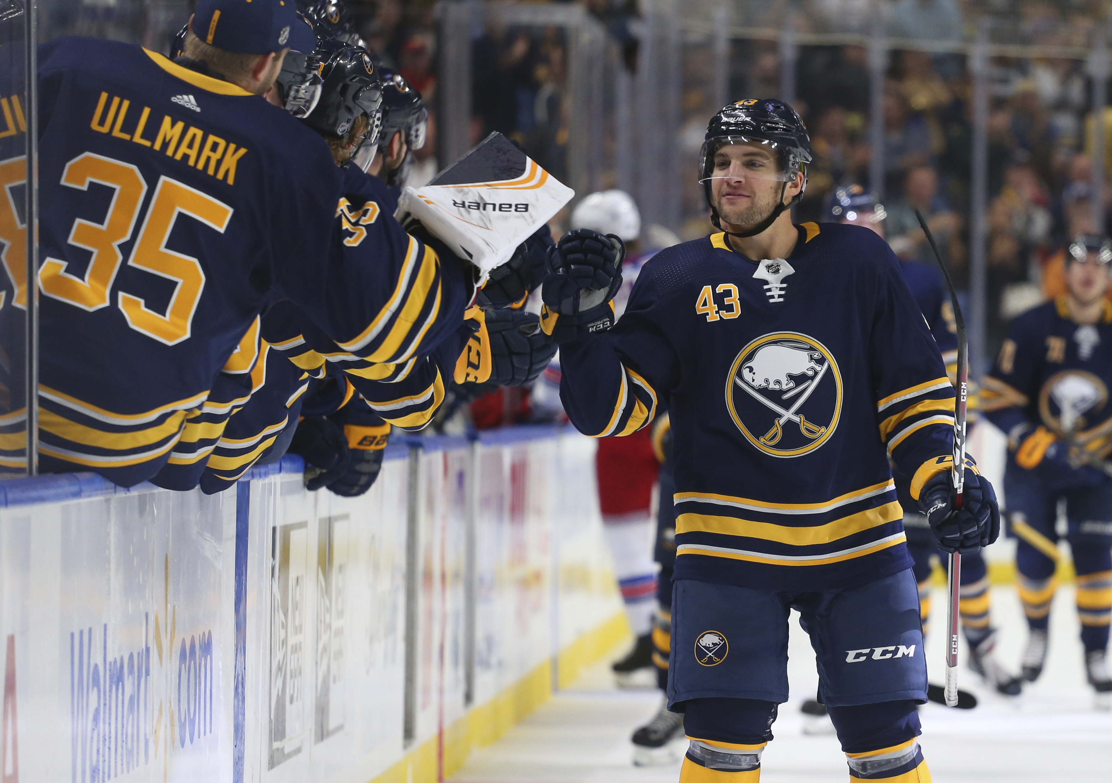 Sheary scores twice in Sabres' 3-1 win over Rangers
