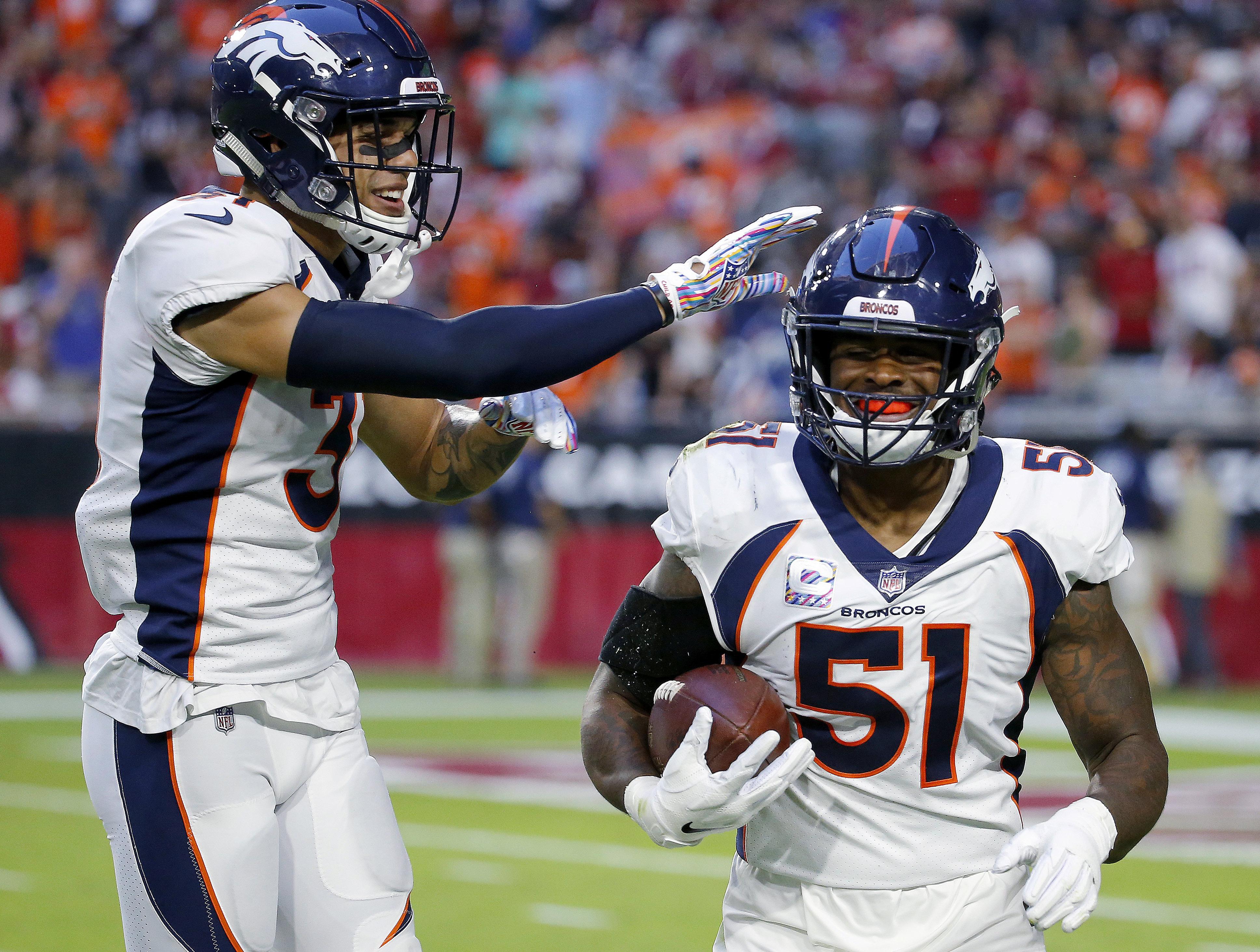 Broncos LB Todd Davis returns from torn calf