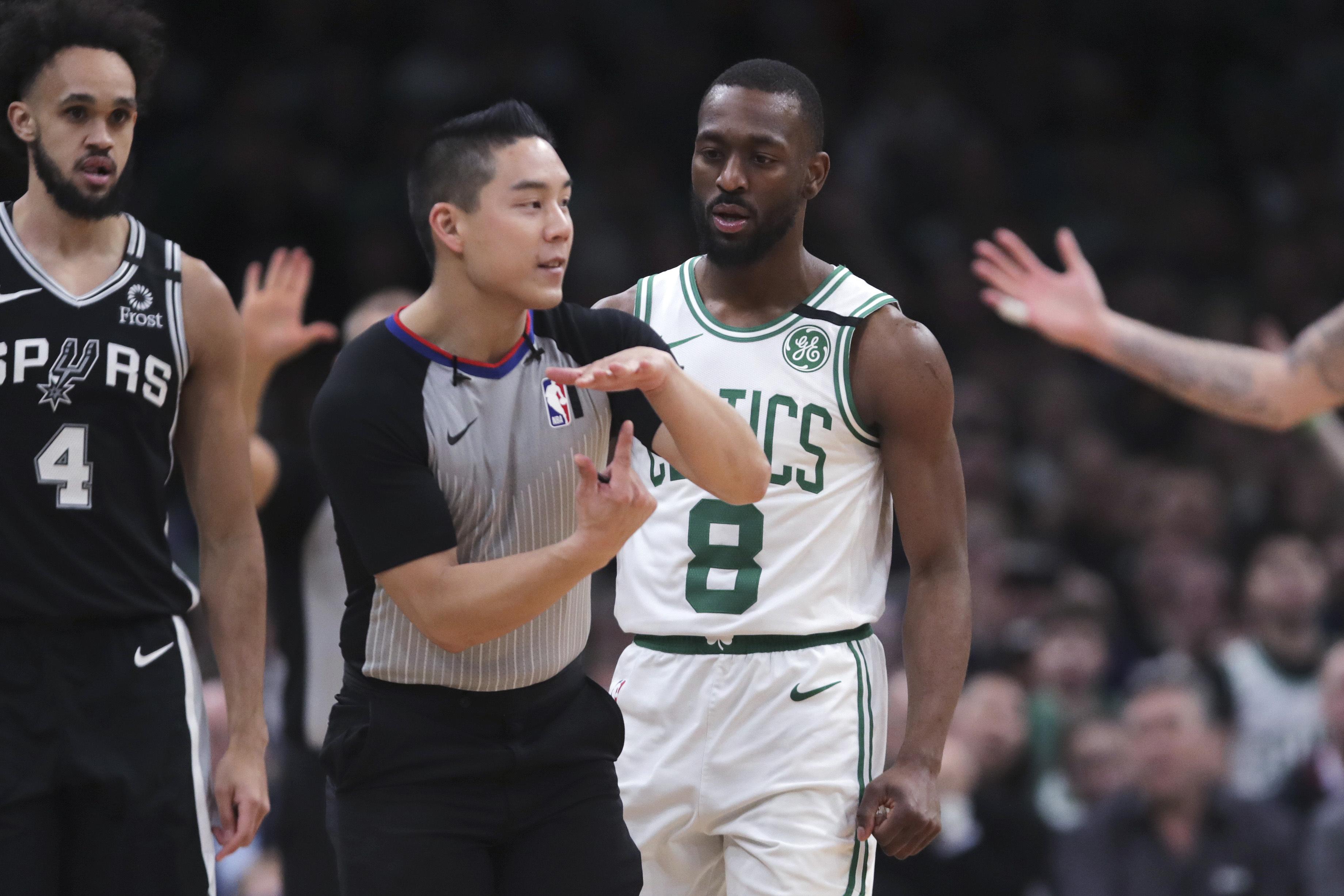 DeRozan scores 30, Walker tossed, Spurs beat Celtics 129-114