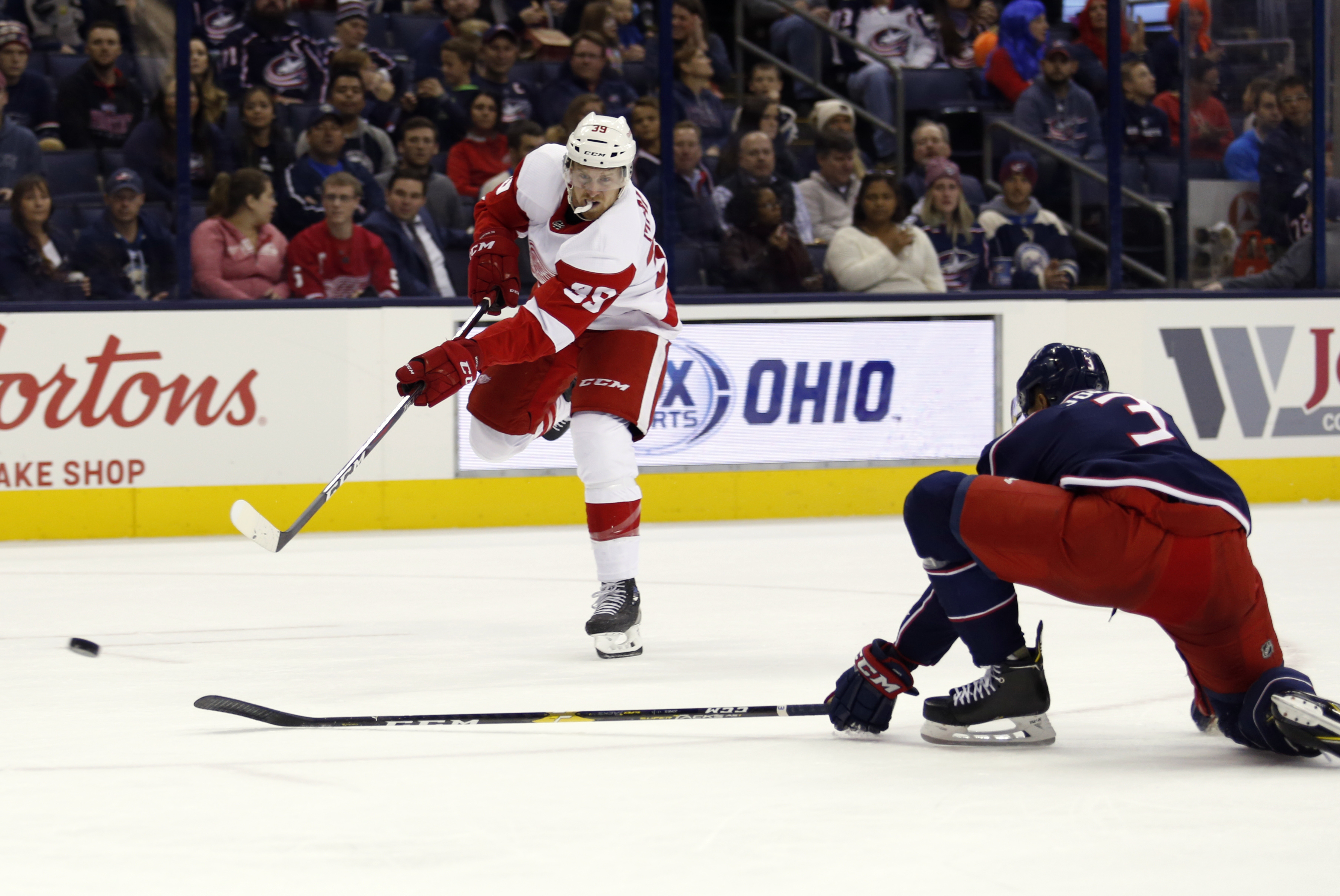 Bertuzzi's late goal powers Red Wings over Blue Jackets 5-3