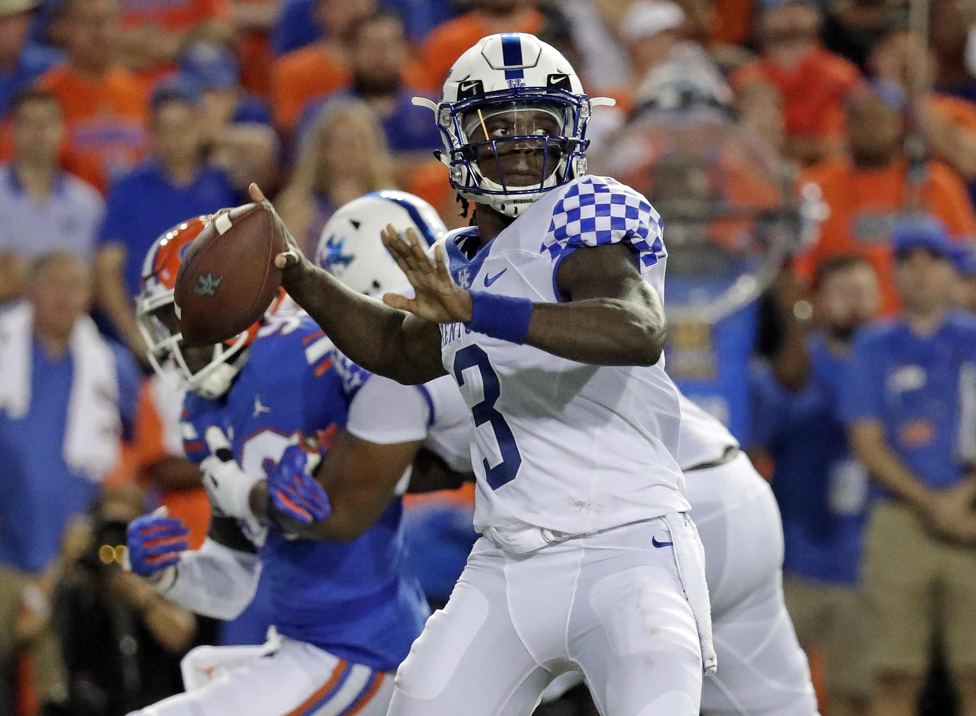 Kentucky quarterback Wilson unfazed by turnover-prone start