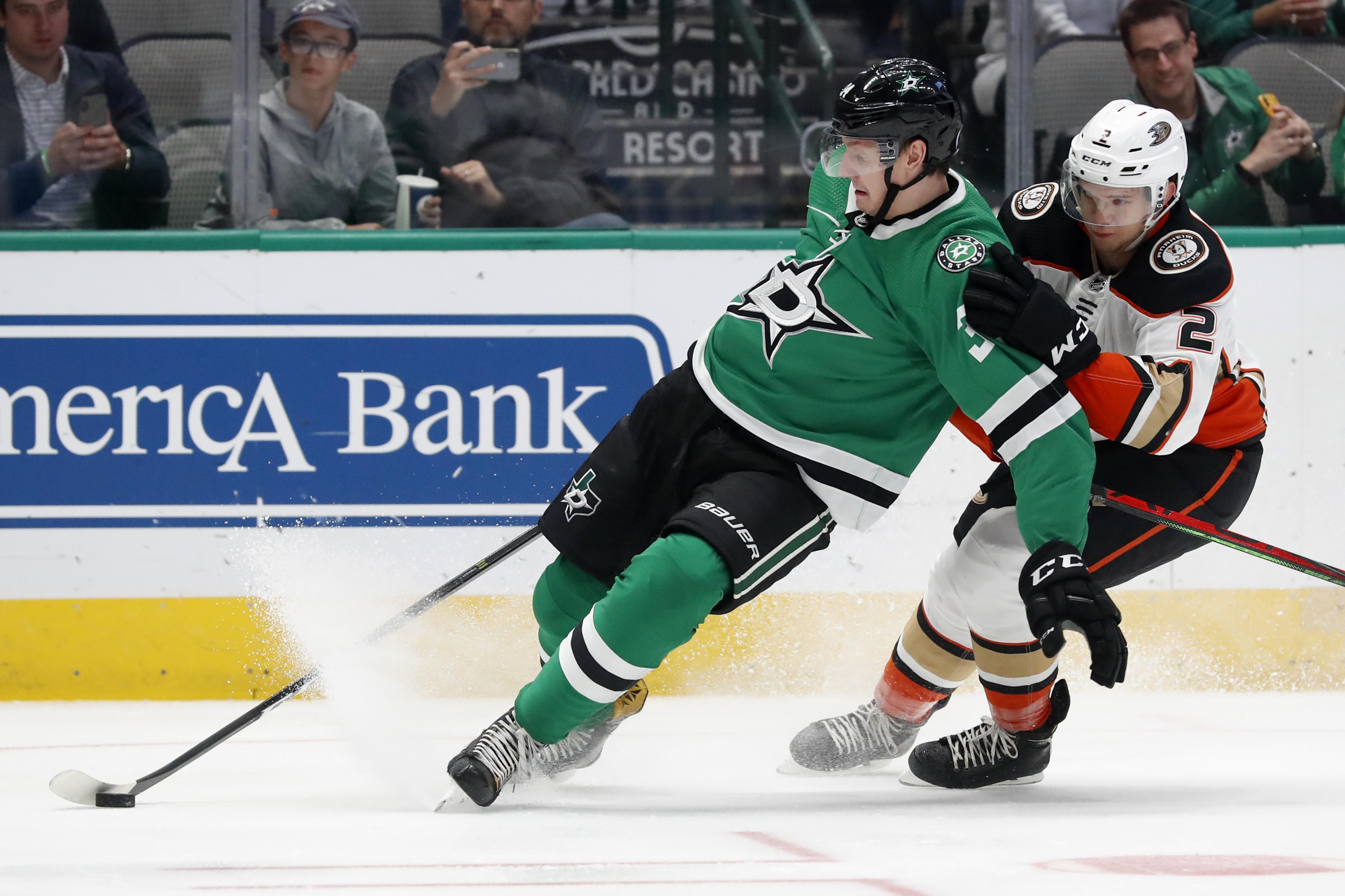 Gurianov scores both goals, Stars hold off Ducks 2-1