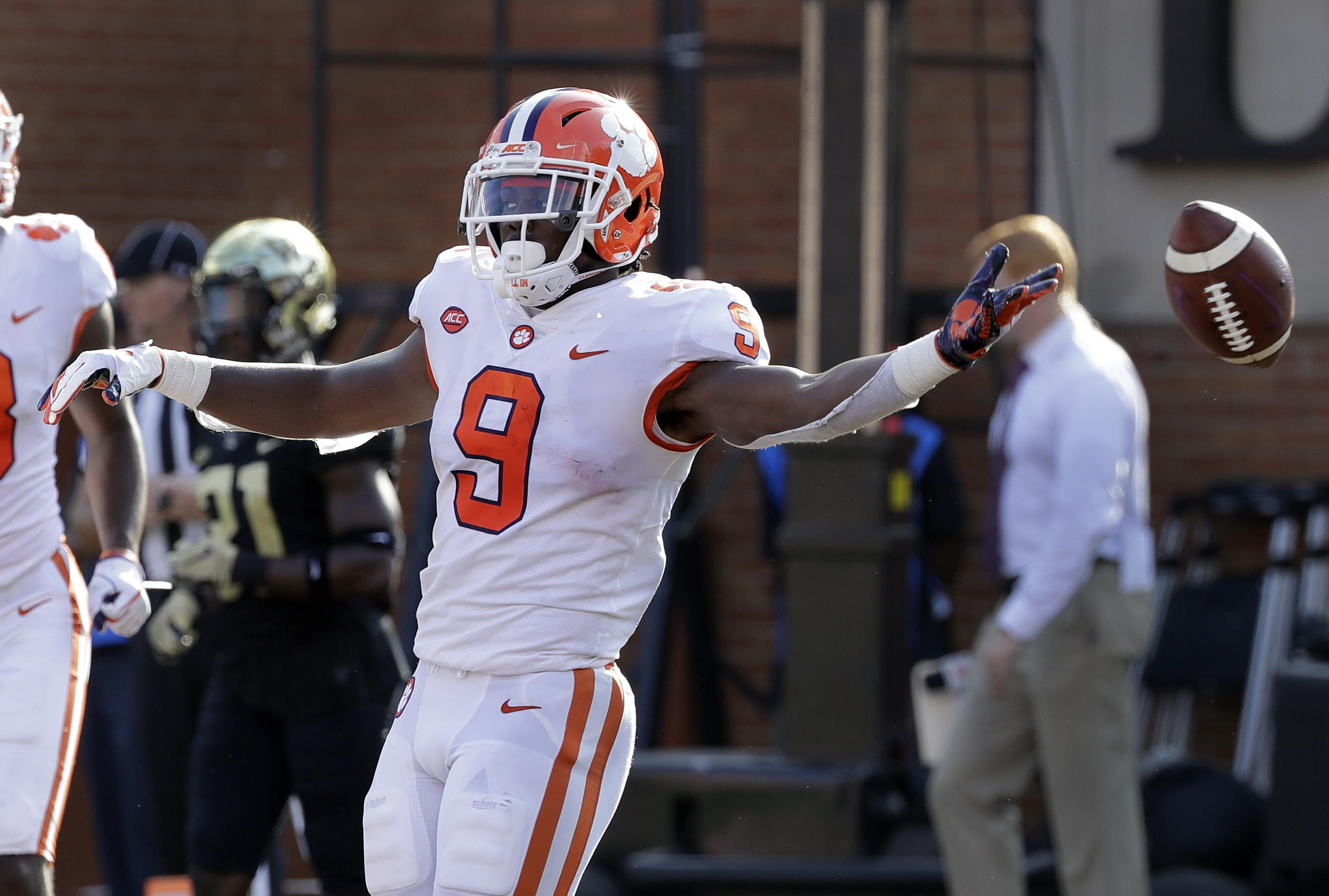 Etienne leads No. 4 Clemson past Wake Forest, 63-3