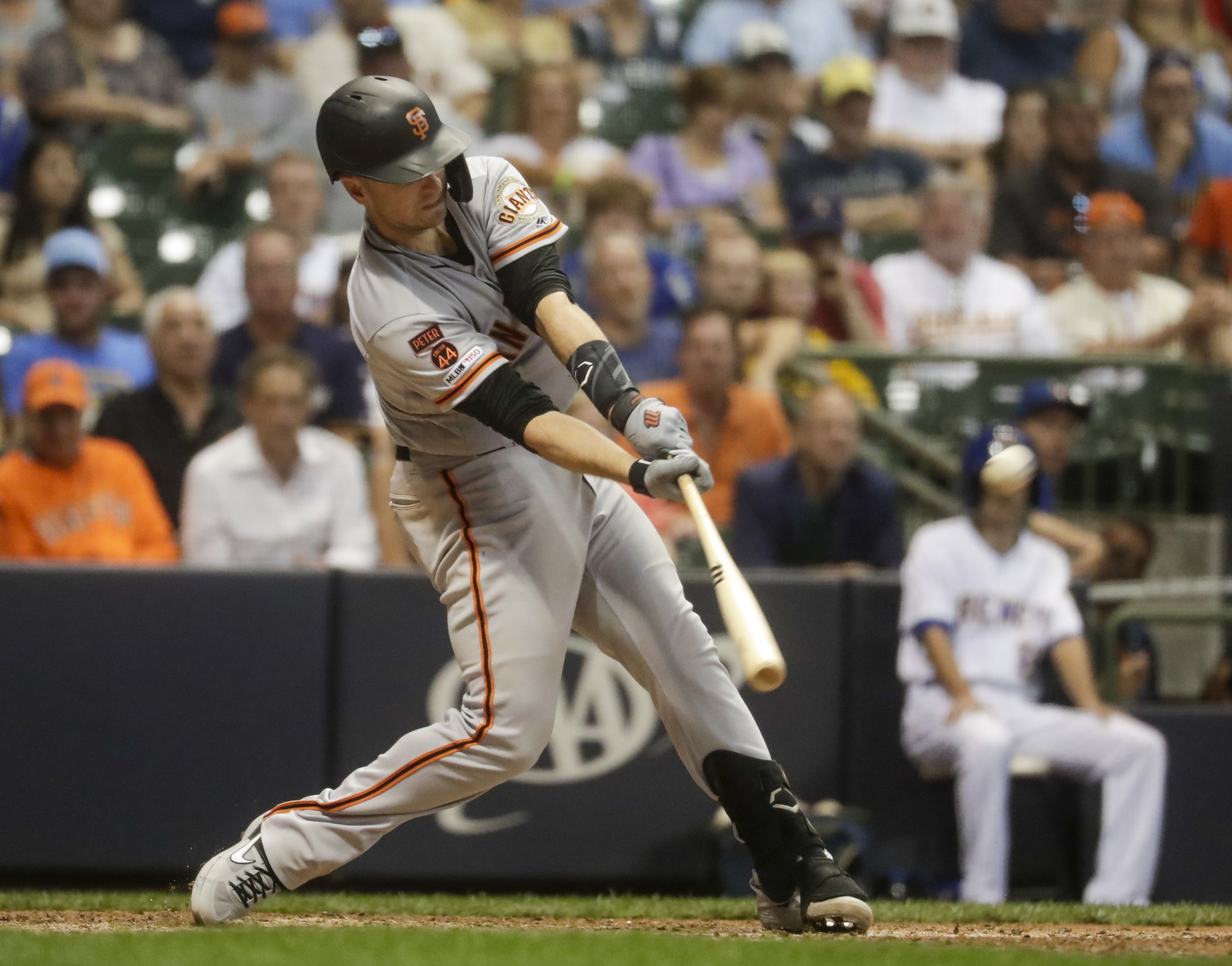 Posey hits grand slam in 10th, Giants beat Brewers 10-7