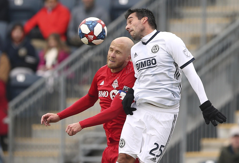 Bradley scores twice, Toronto beats Union 3-1 on opening day