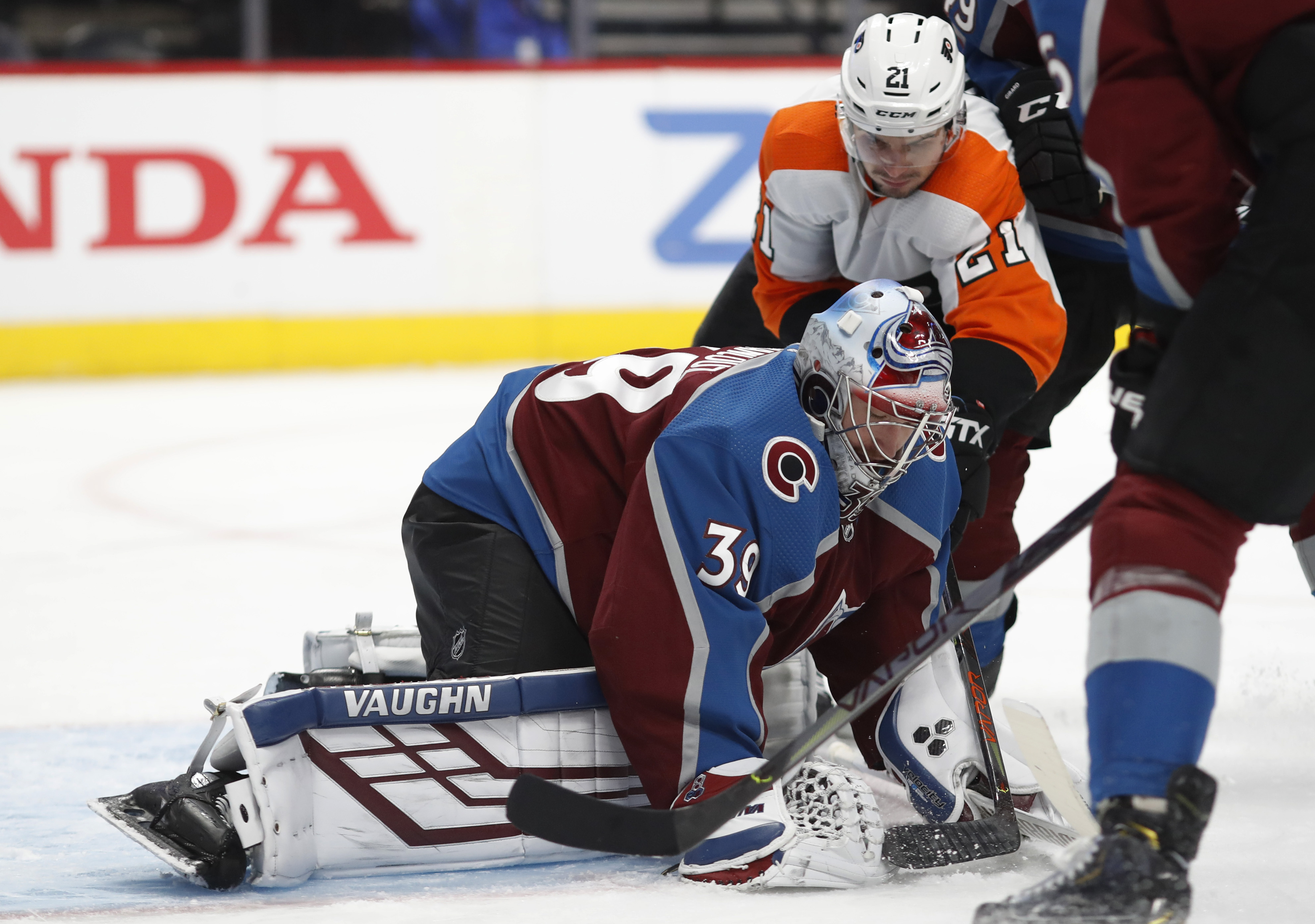 Rantanen scores twice, Avalanche beat Flyers 3-1