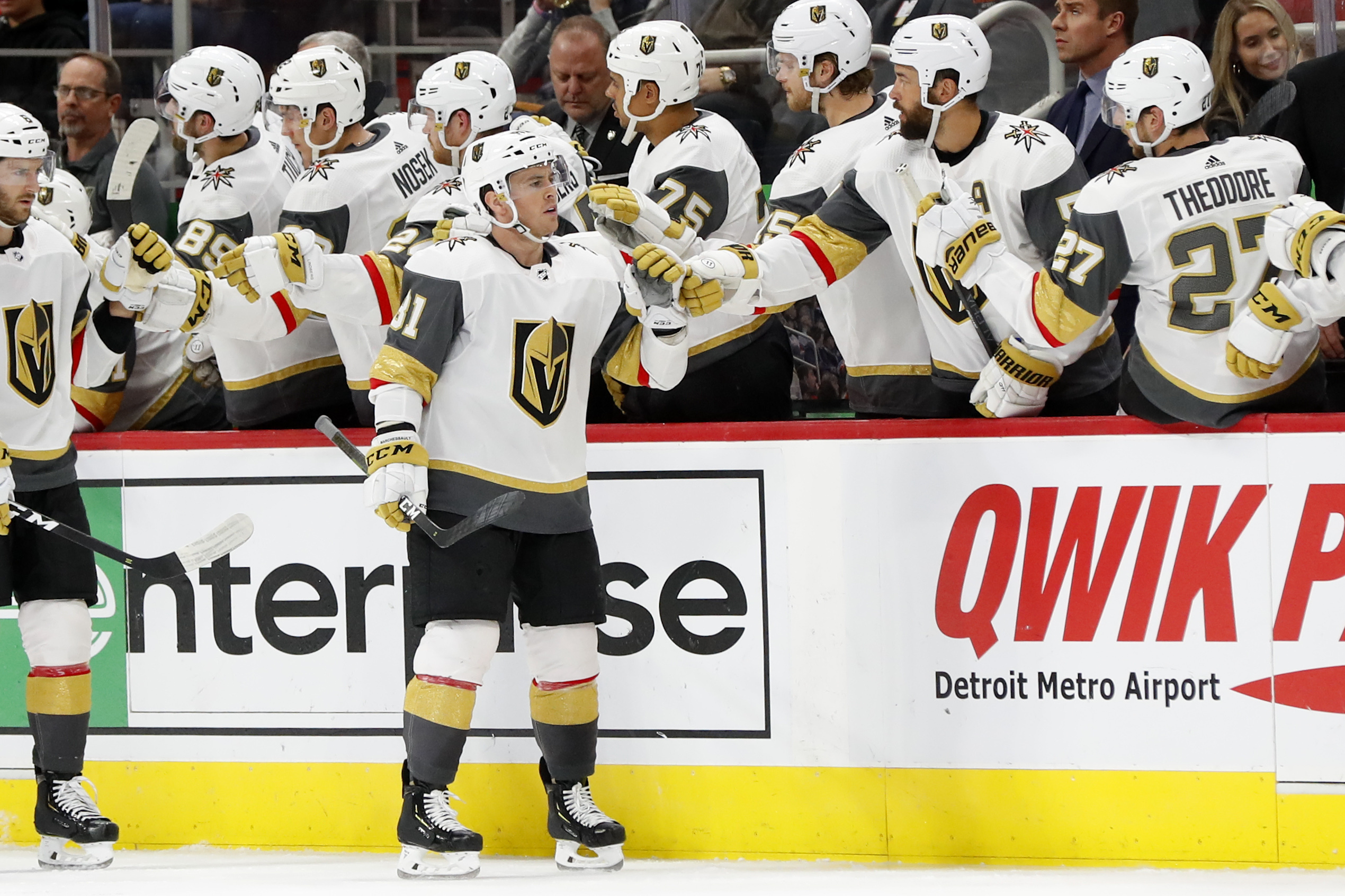 Marchessault scores 2 to lift Vegas over Detroit 4-2