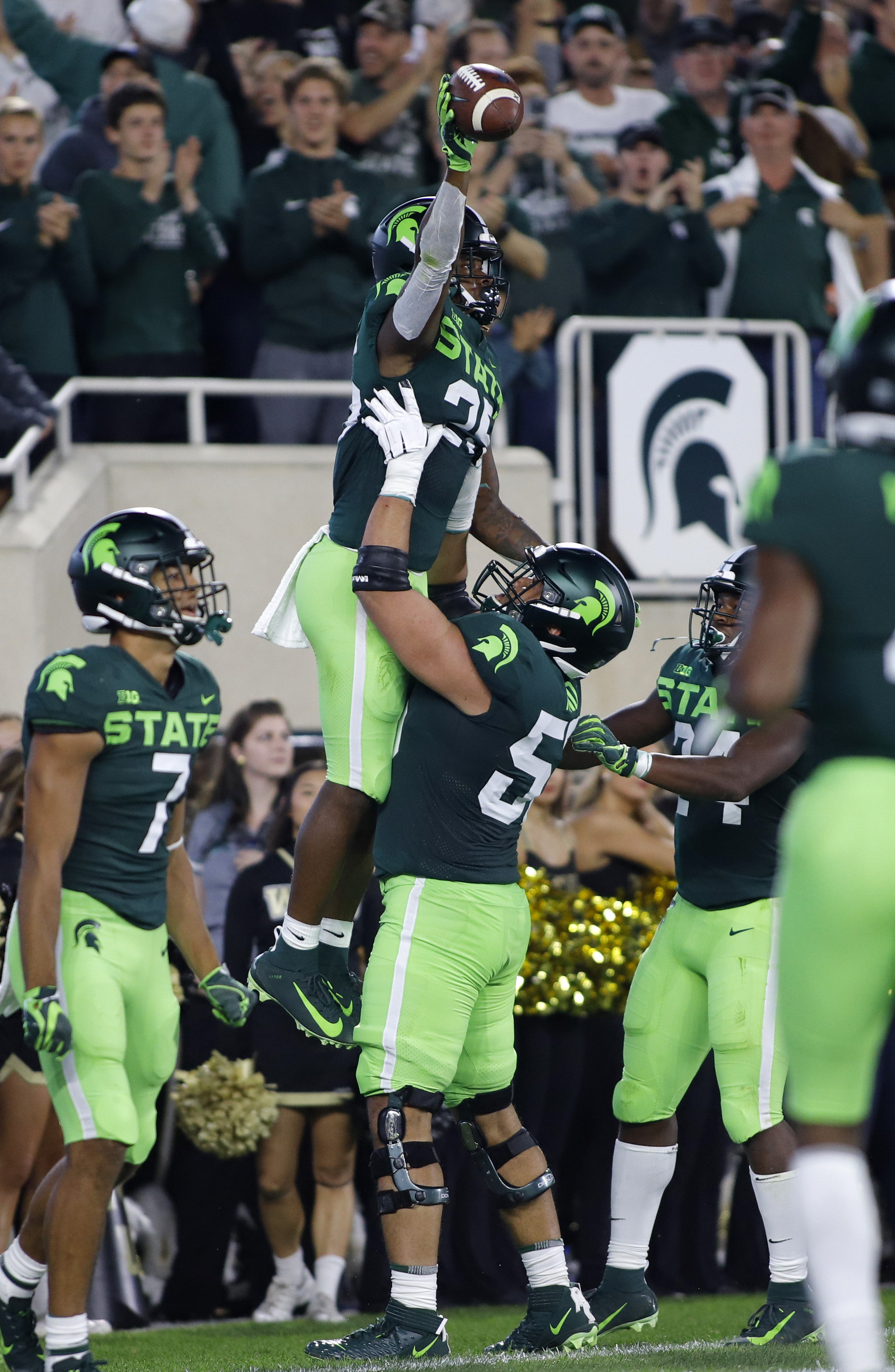 Offense responds for No. 19 Spartans in 51-17 win over WMU