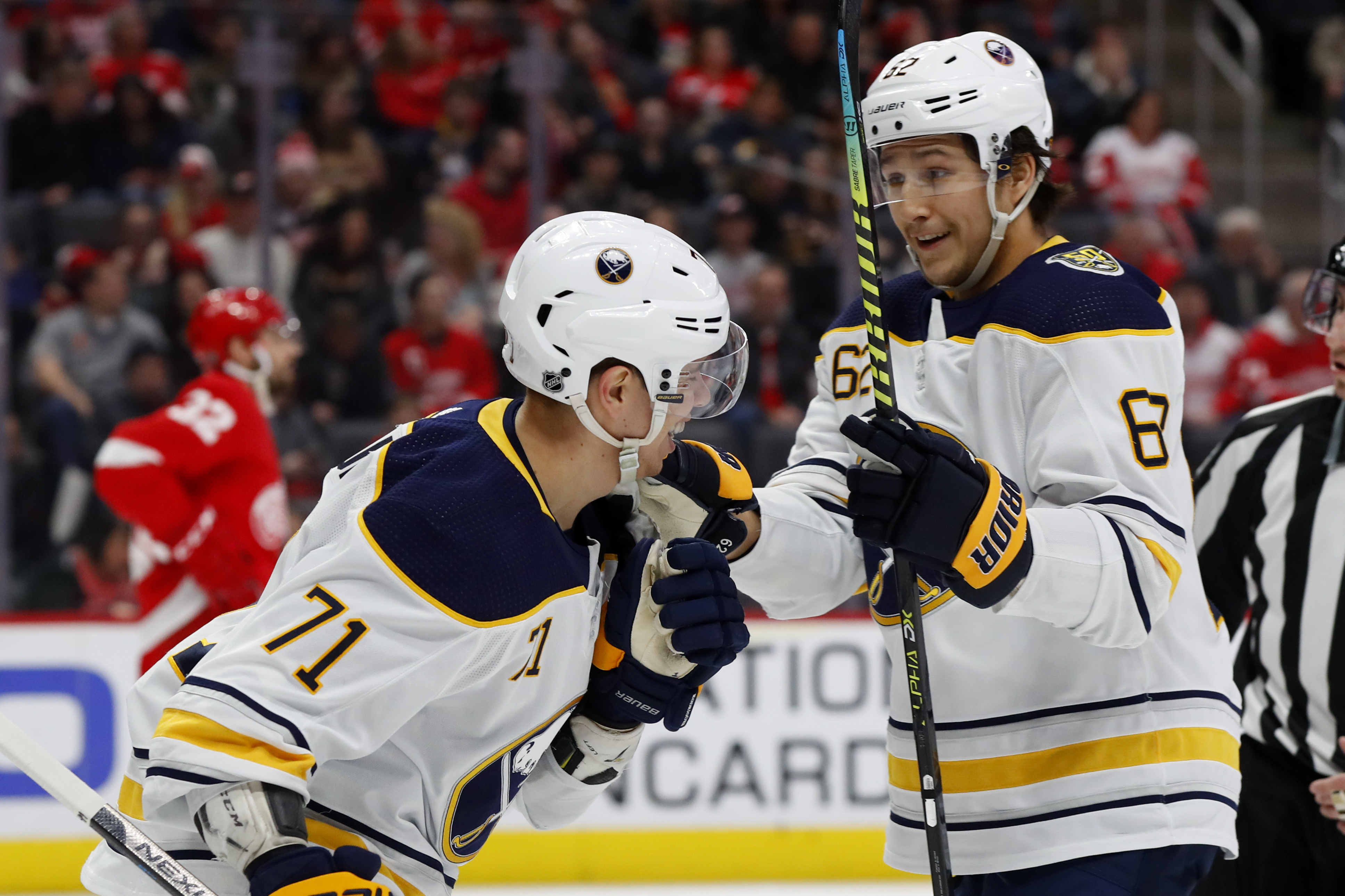 Rodrigues scores 2 goals to lift Sabres past Detroit 5-1