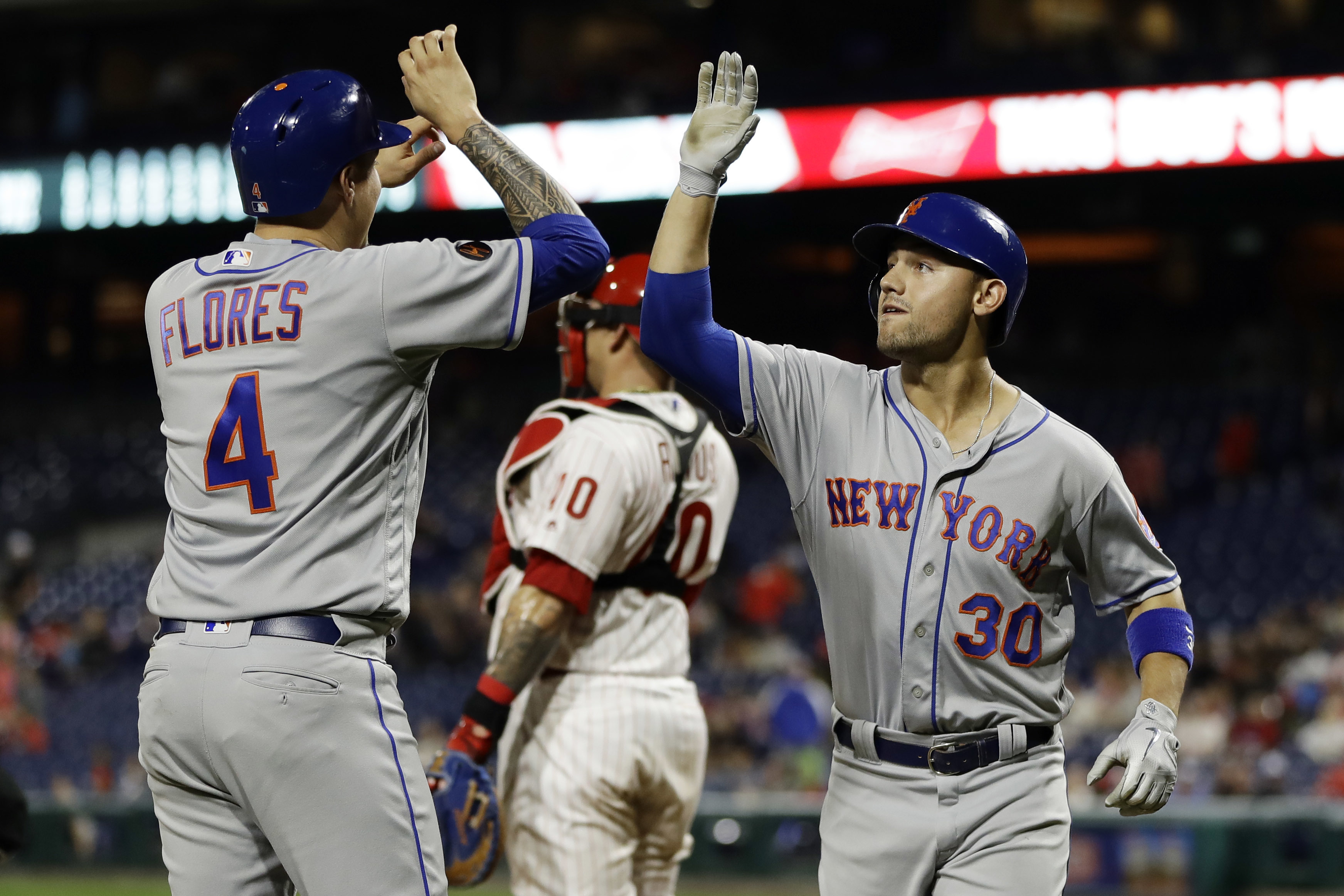 Conforto drives in career-best 6, Mets top Phillies 9-4