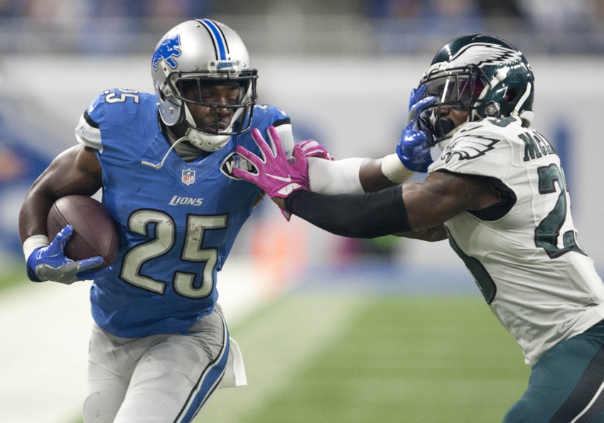 Theo Riddick Ruled Out For Sunday's Game Against Los Angeles Rams