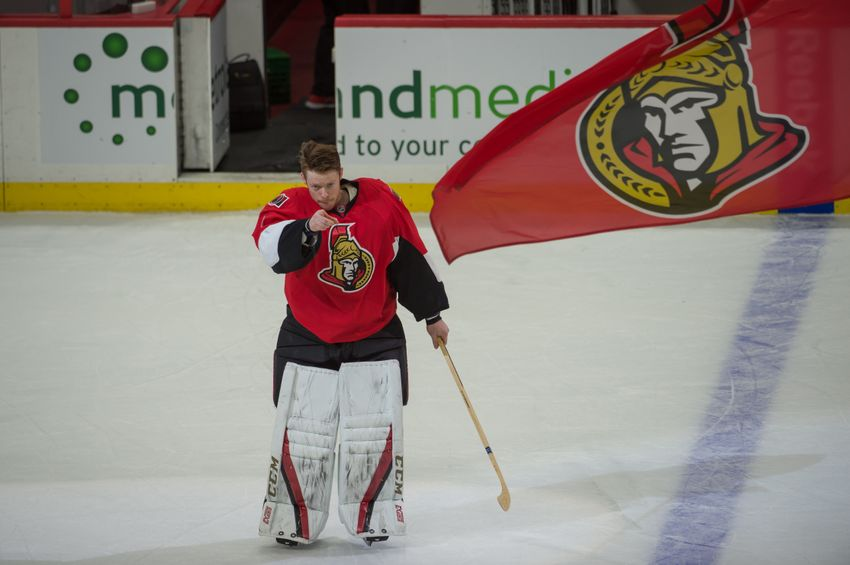 Mike Condon Carrying the Load in Goal for Ottawa Senators