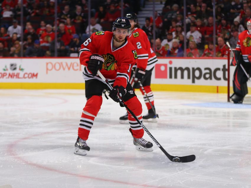 Chicago Blackhawks' Marcus Kruger Week To Week With Injury