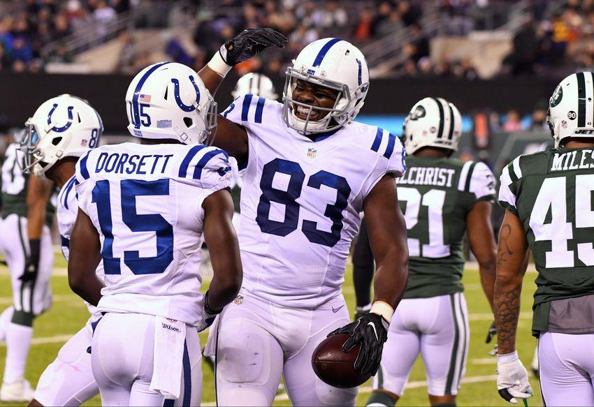 Colts Inactives at Vikings: Dwayne Allen, Phillip Dorsett Will Play on Sunday