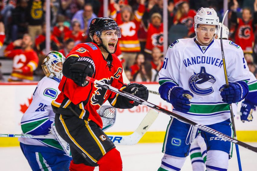 Vancouver Canucks Flame Out in Calgary, Lose 4-1