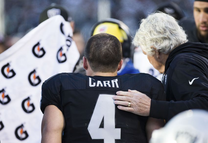 Oakland Raiders Players React to Derek Carr's Injury
