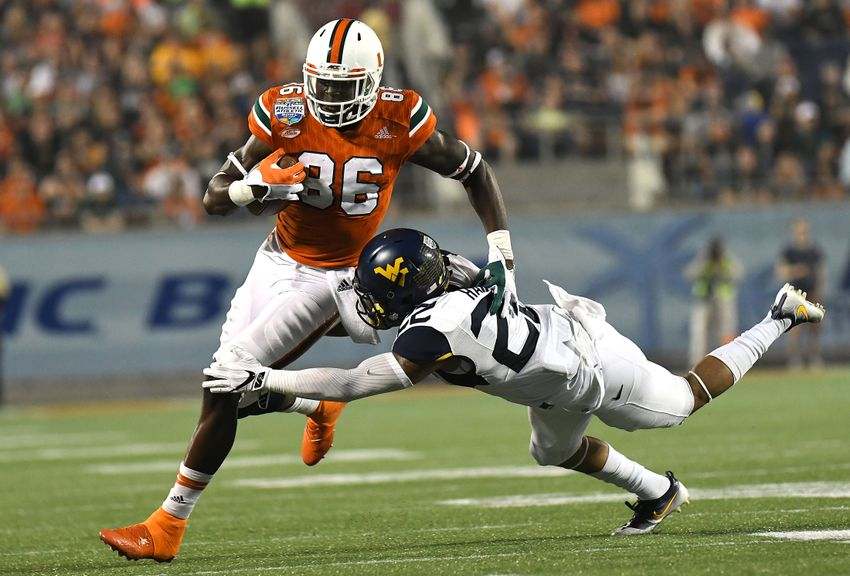 Denver Broncos: Miami TE David Njoku could be Draft target