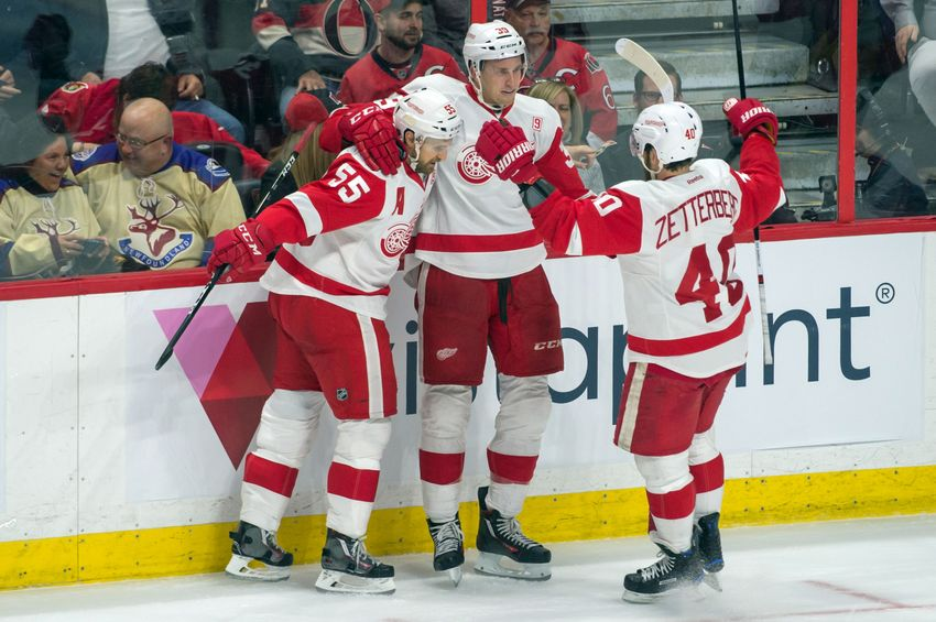 Red Wings Prevail Over the Ottawa Senators in Overtime