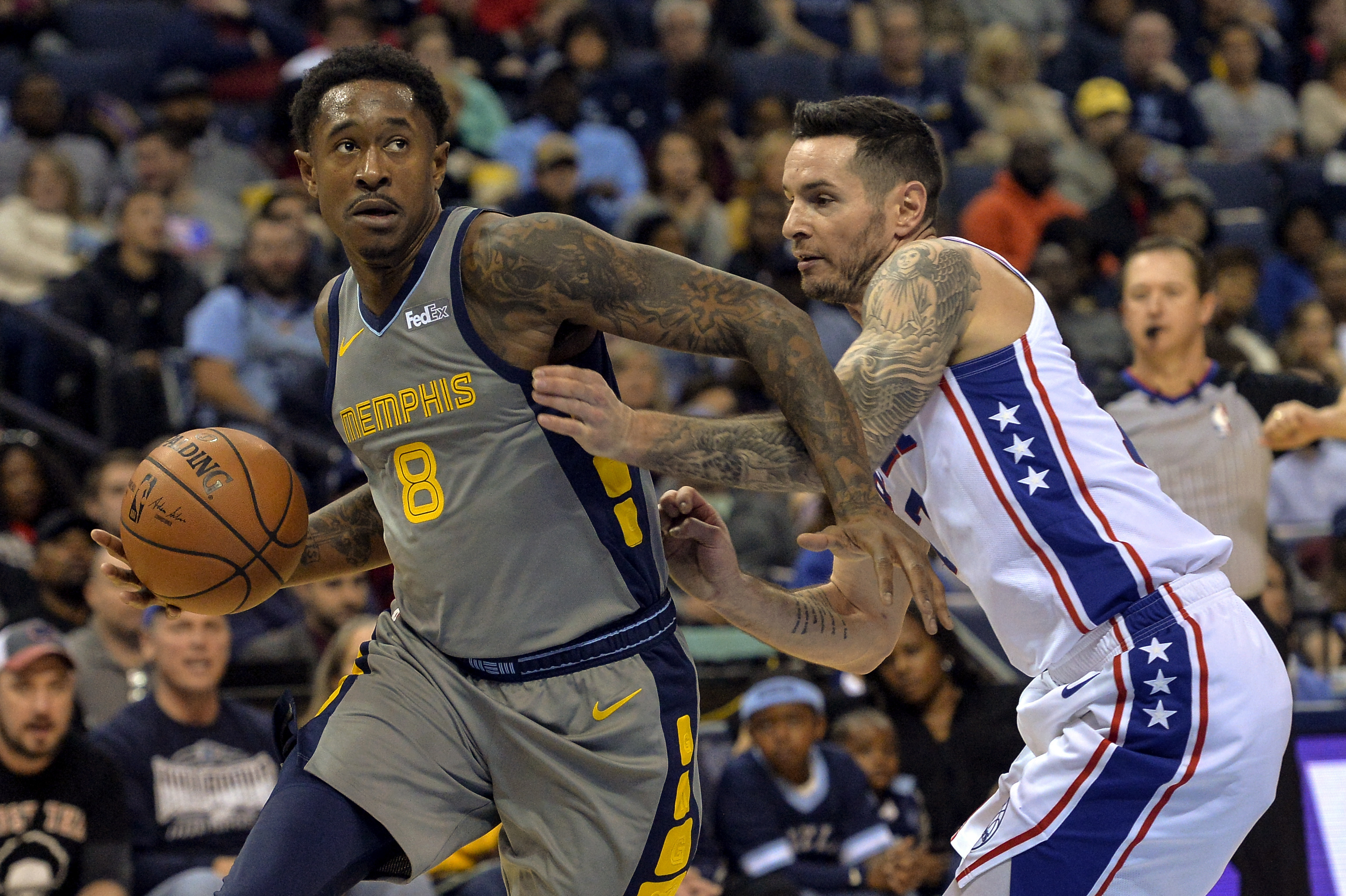 Conley scored 32 points sending Grizzles past 76ers in OT