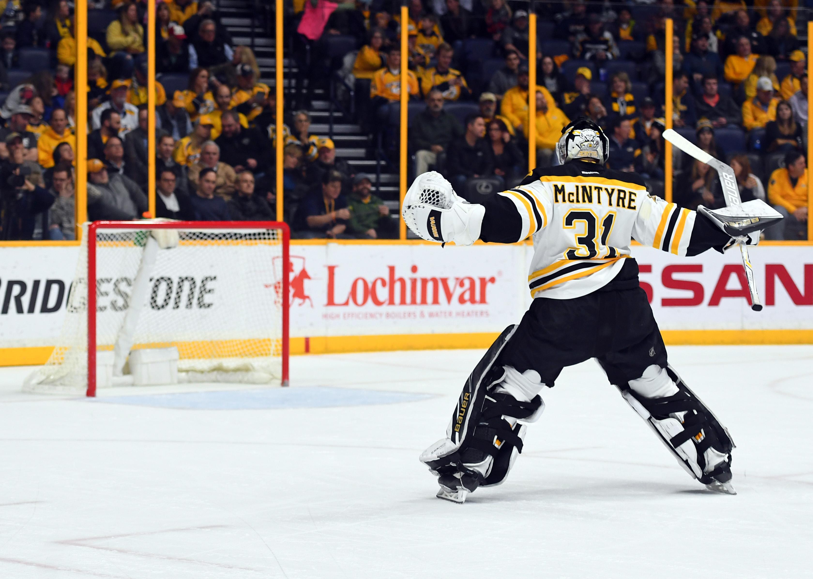 Boston Bruins Goaltender Zane McIntyre Sent to AHL to Play All-Star Game