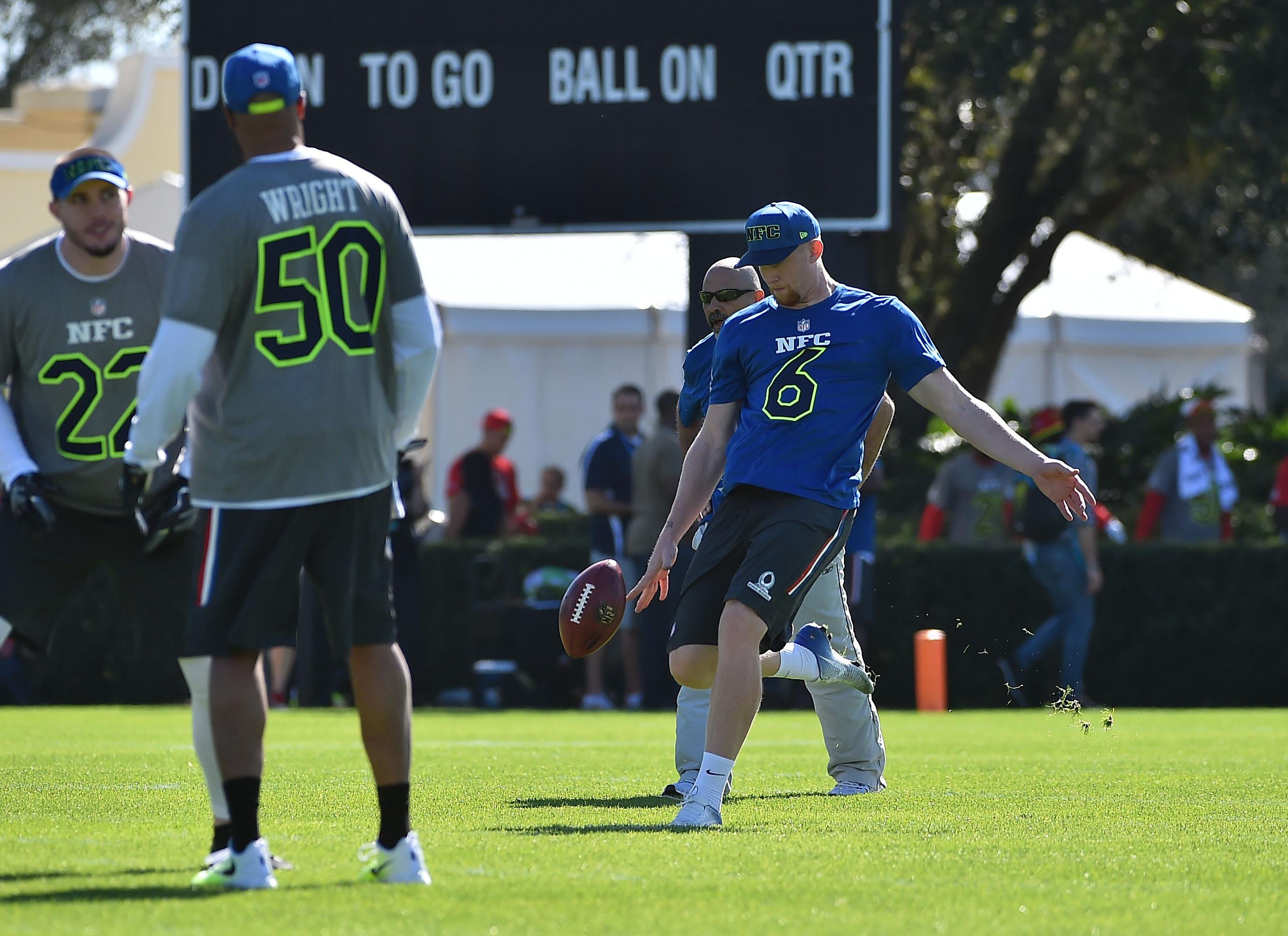 Rams Punter Johnny Hekker Hangs at Cirque du Soleil During Pro Bowl Week