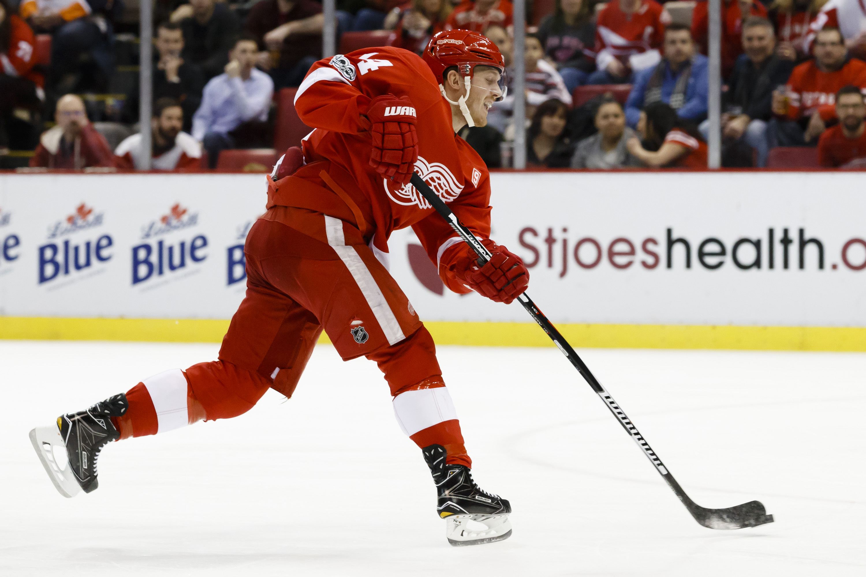 How many games should Gustav Nyquist be suspended for high stick?