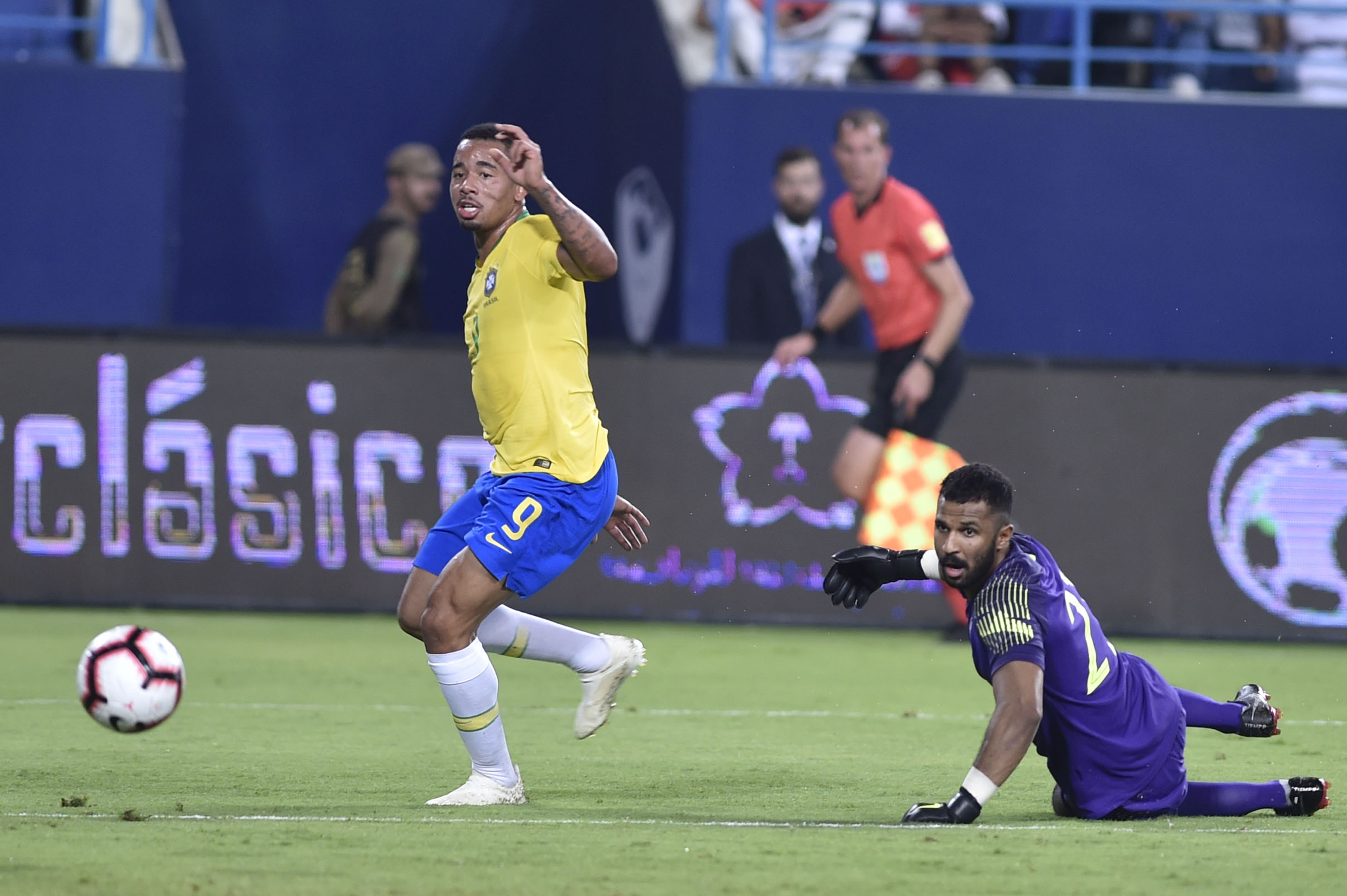 Jesus scores as Brazil beats Saudi Arabia 2-0 in friendly