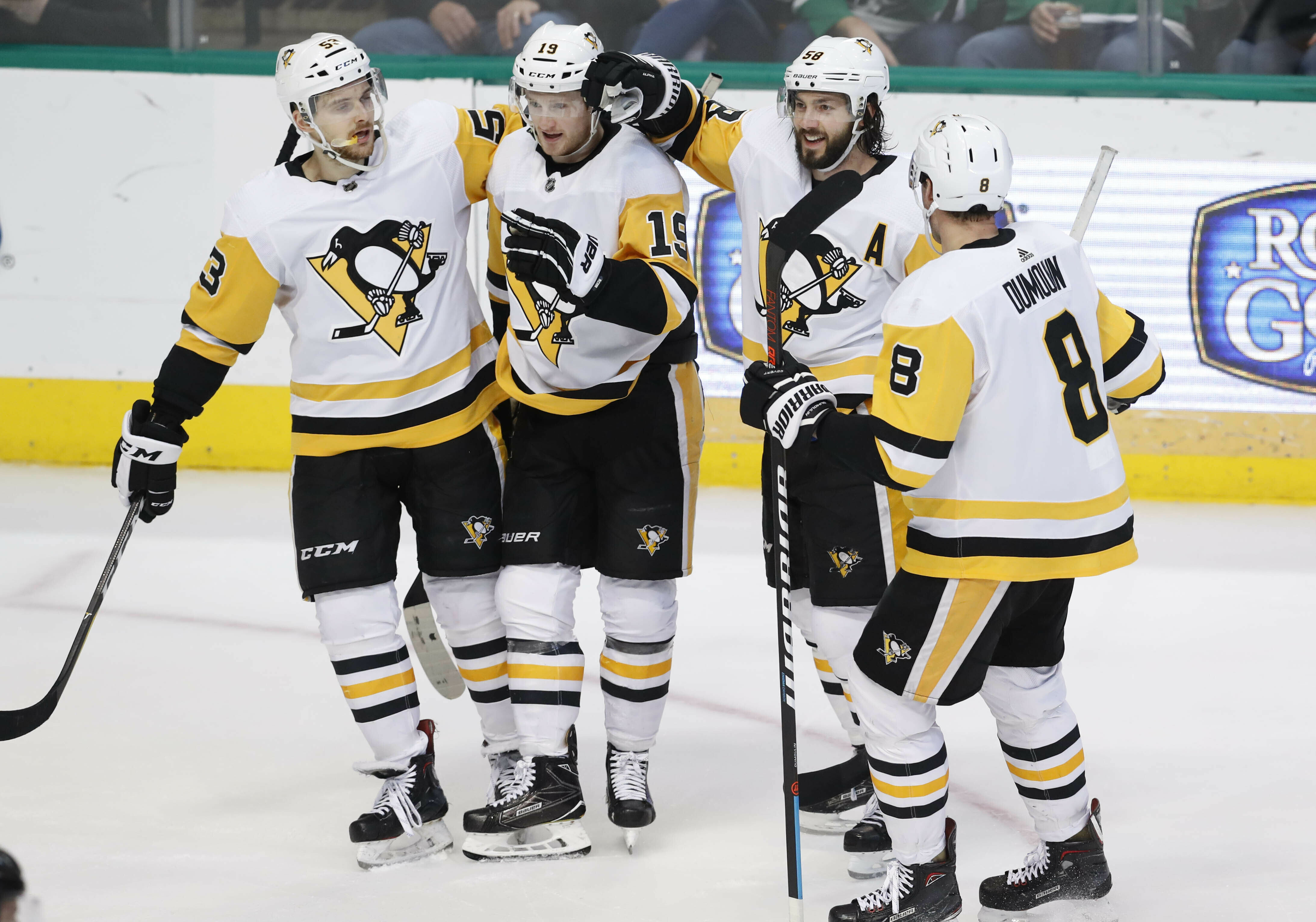 McCann scores twice to help Penguins hold off Stars, 3-2