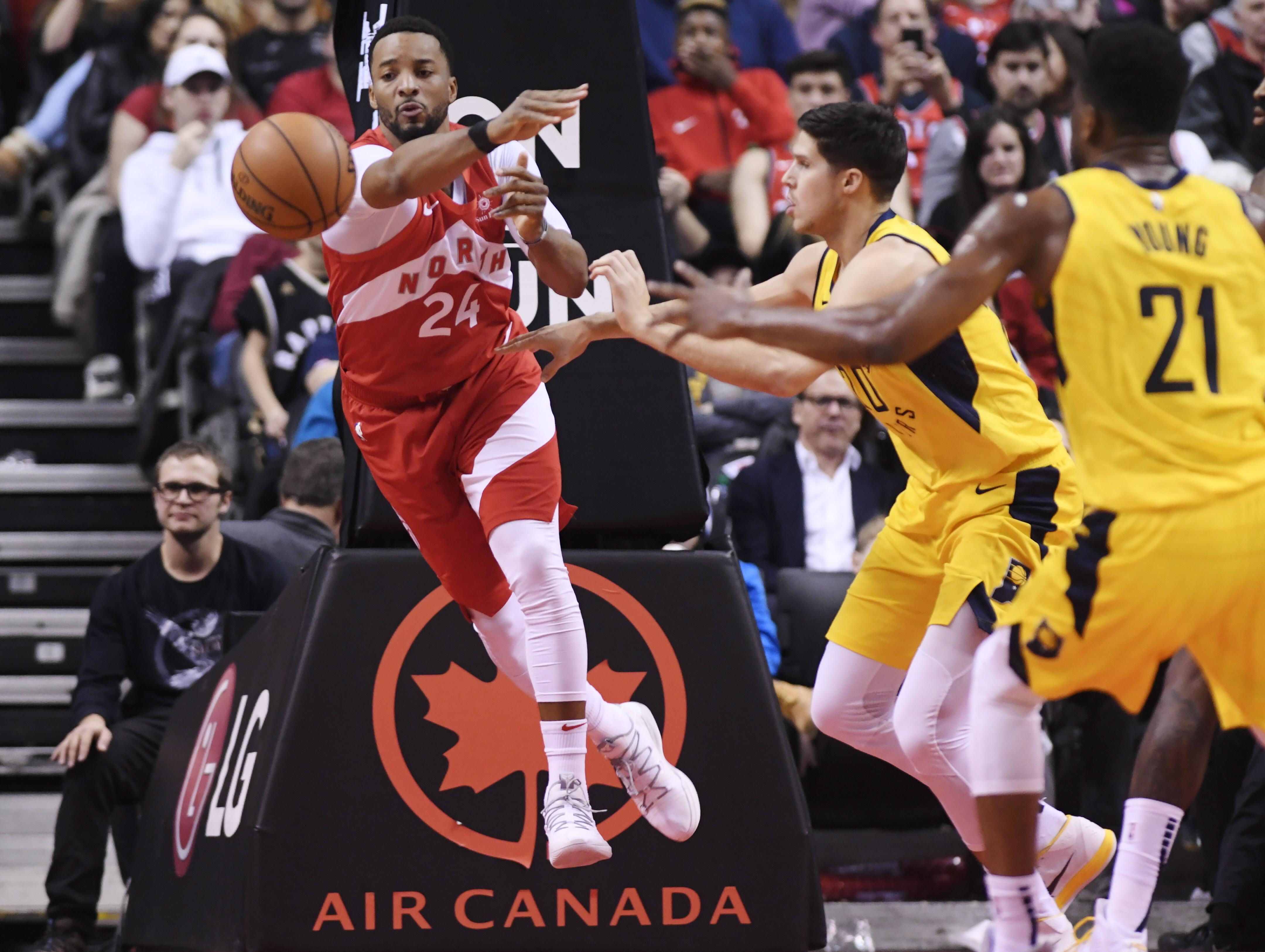 Powell scores-season-high 23, Raptors beat Pacers 121-105