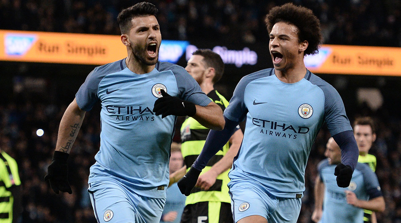 Aguero sparks Manchester City in FA Cup replay win vs. Huddersfield